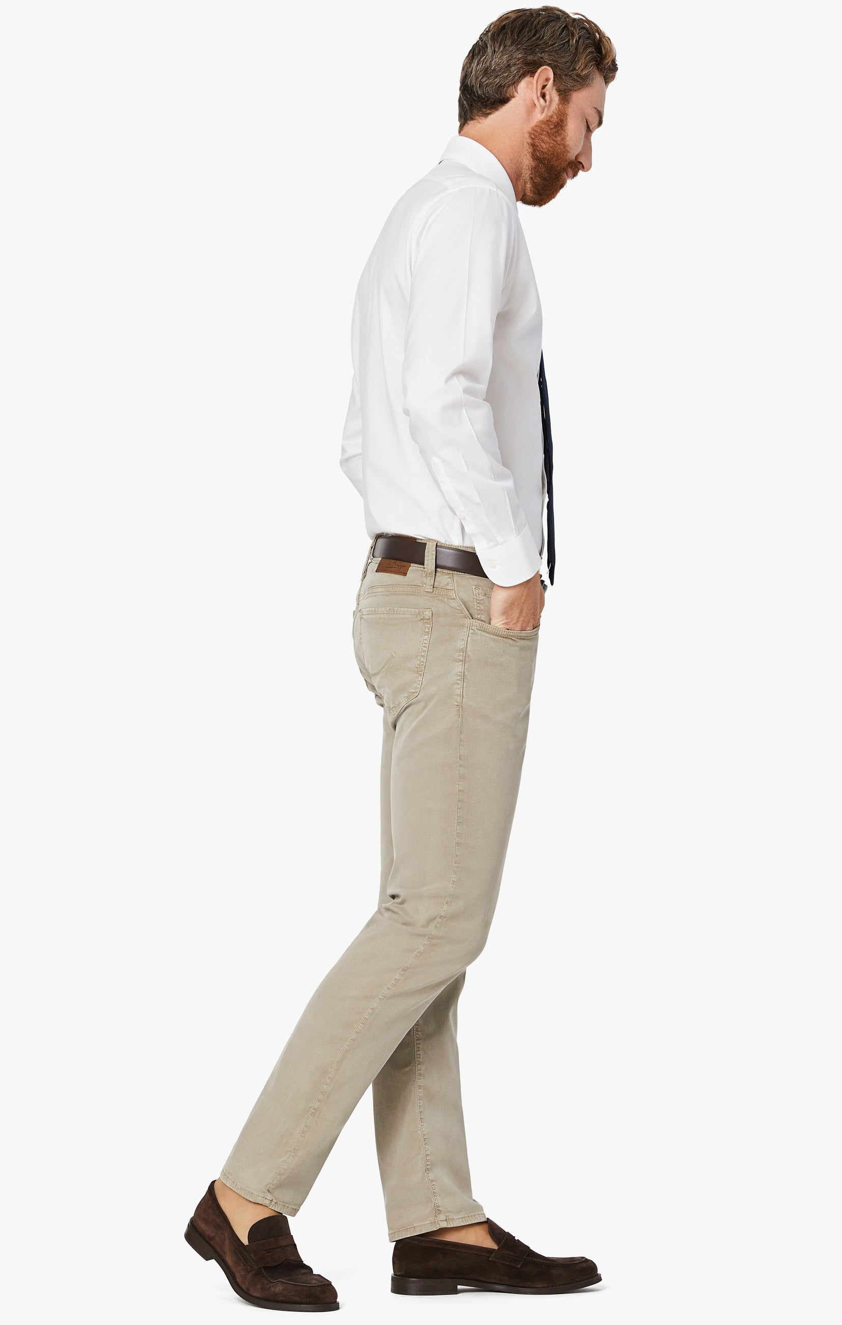 Courage Straight Leg Pants in Mushroom Soft Touch Image 5