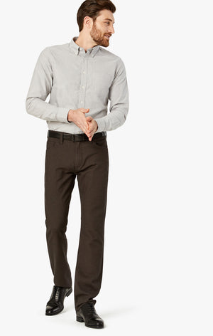 Courage Straight Leg Pants In Mocha Oxford