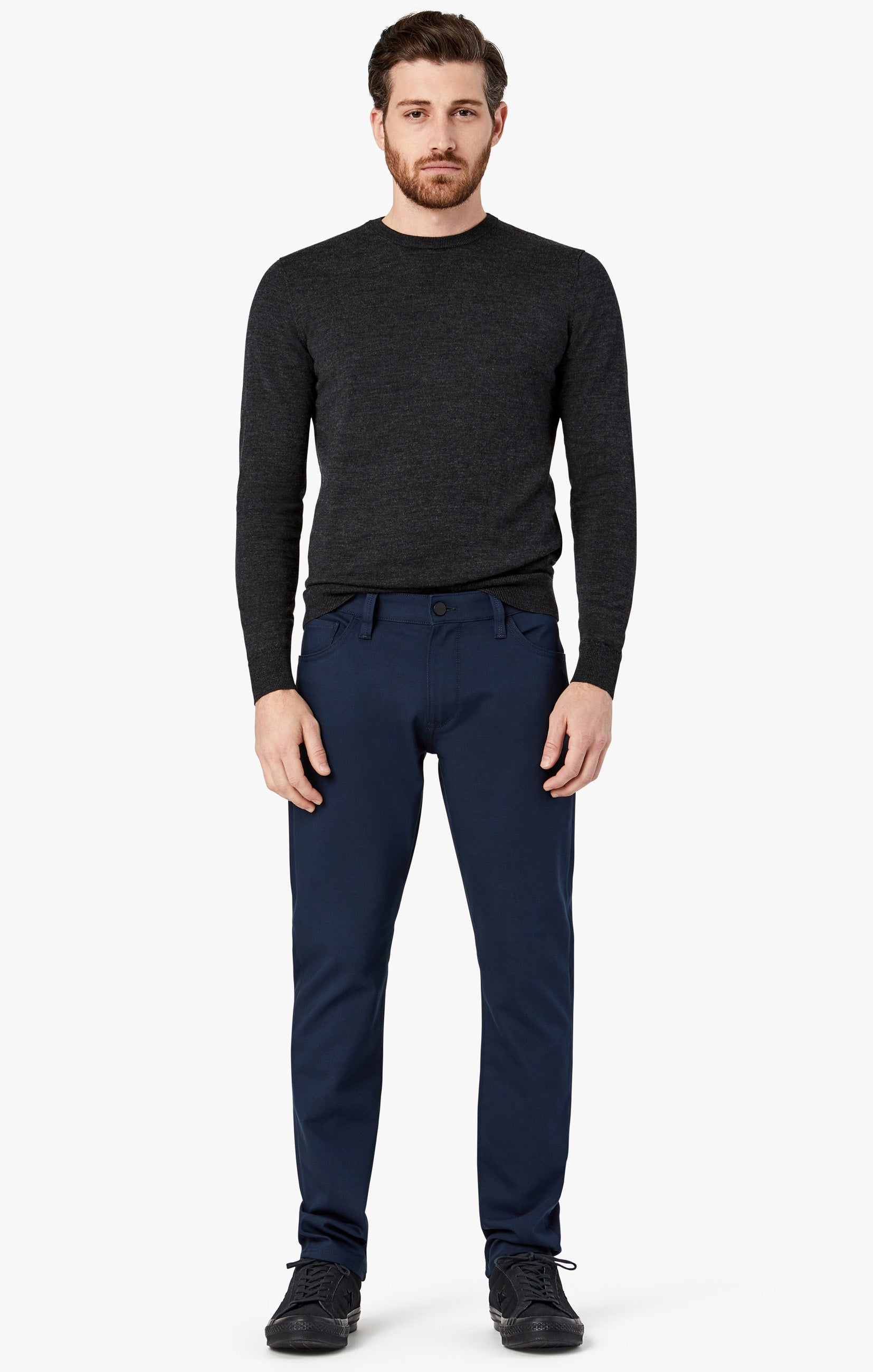 Courage Straight Leg Pants in Navy Commuter Image 2