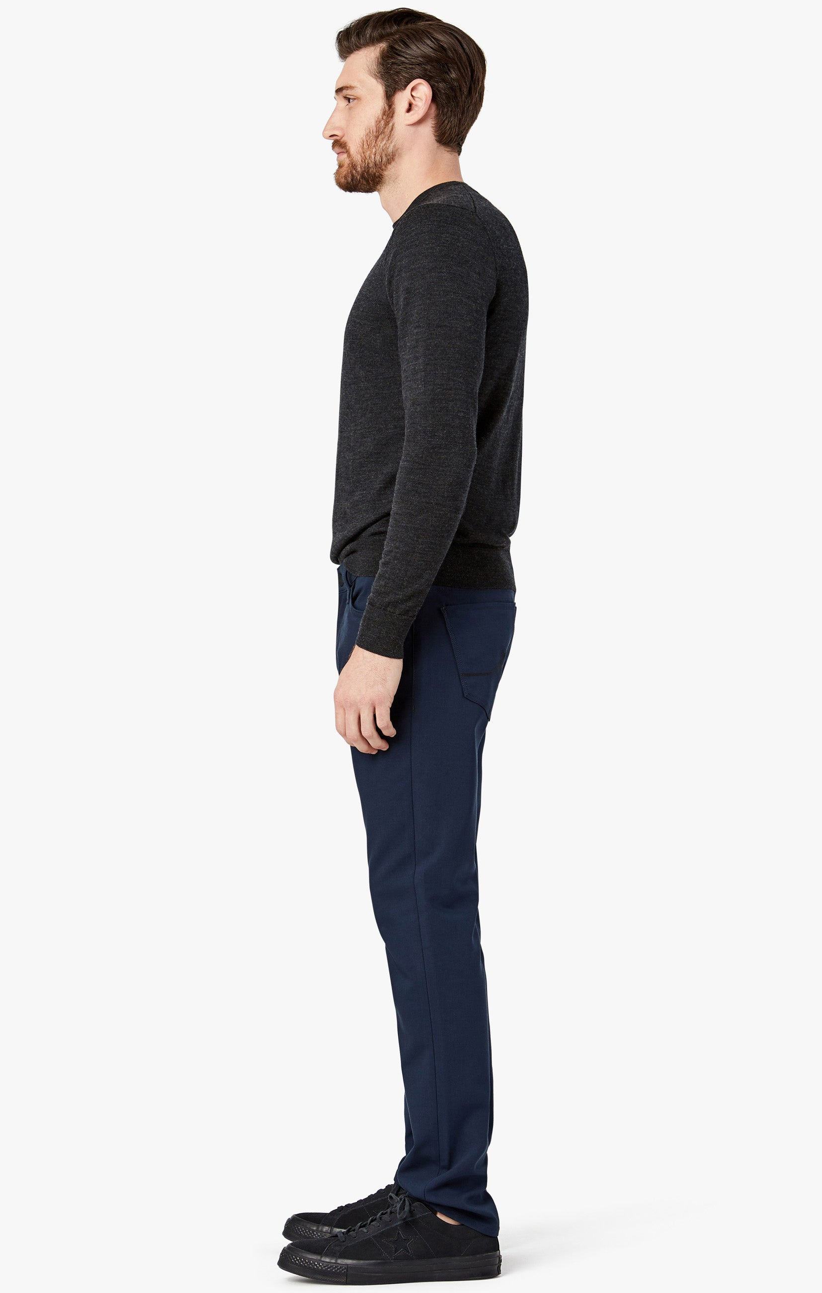 Courage Straight Leg Pants in Navy Commuter Image 8