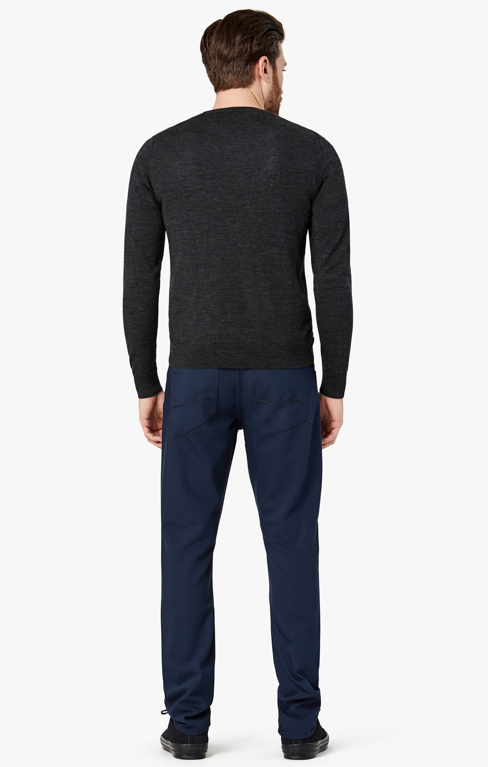 Courage Straight Leg Pants in Navy Commuter Image 4