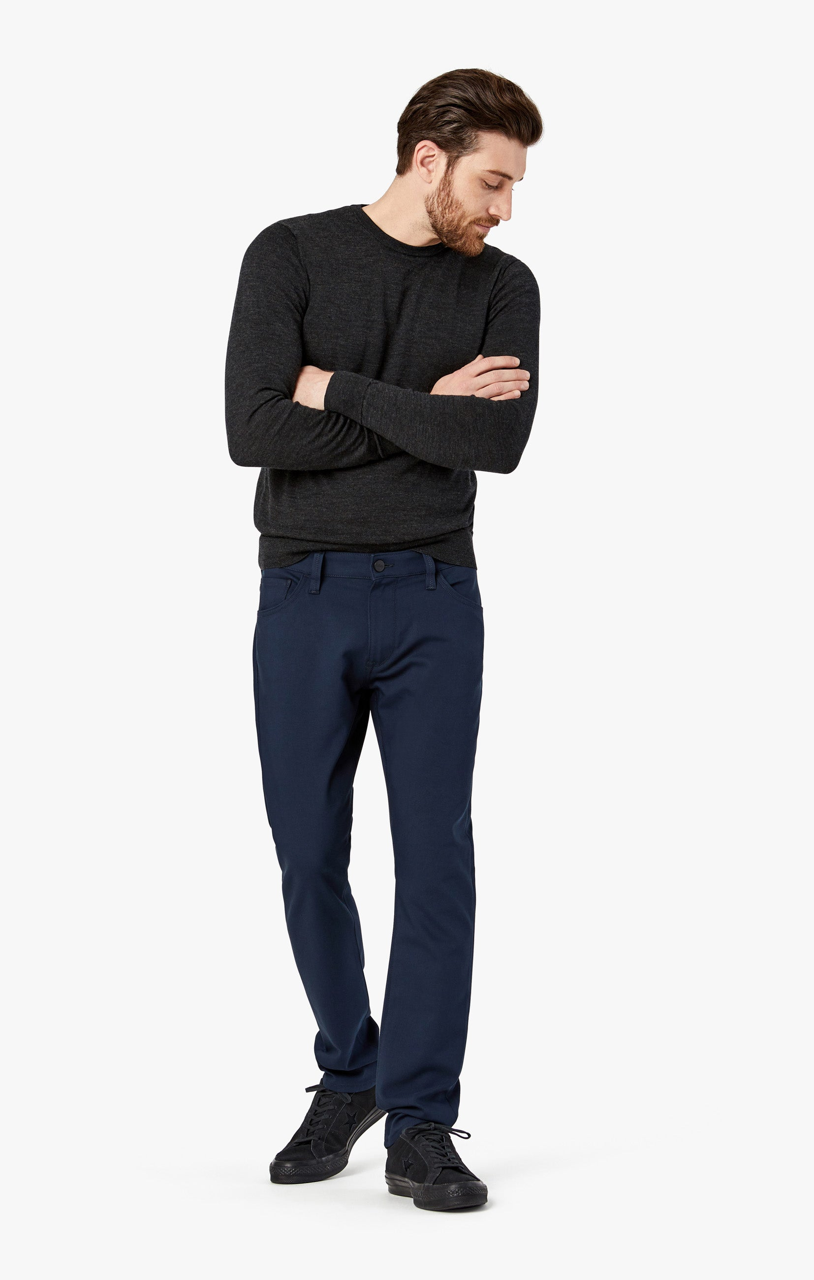 Courage Straight Leg Pants in Navy Commuter Image 1