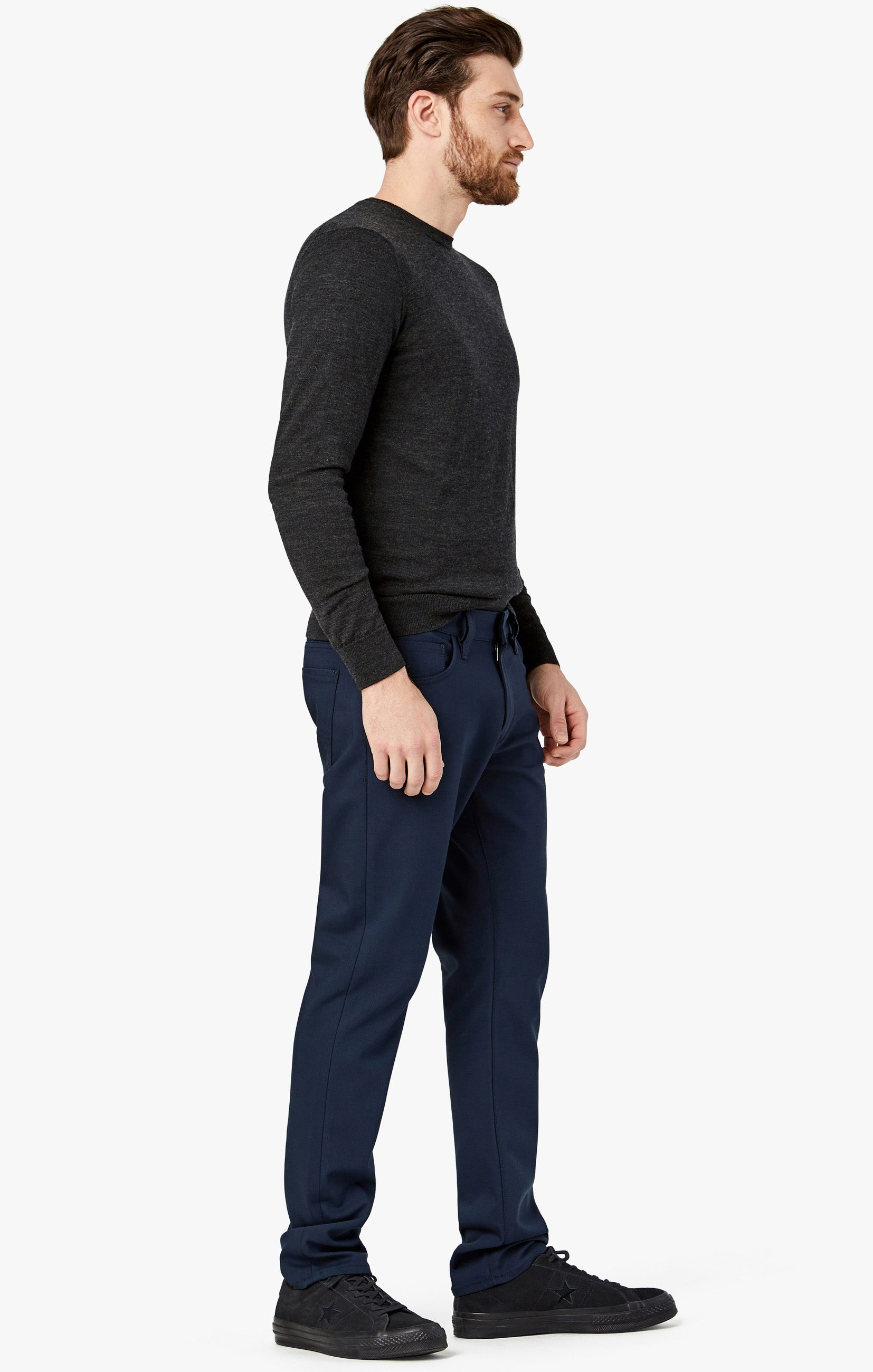 Courage Straight Leg Pants in Navy Commuter Image 3