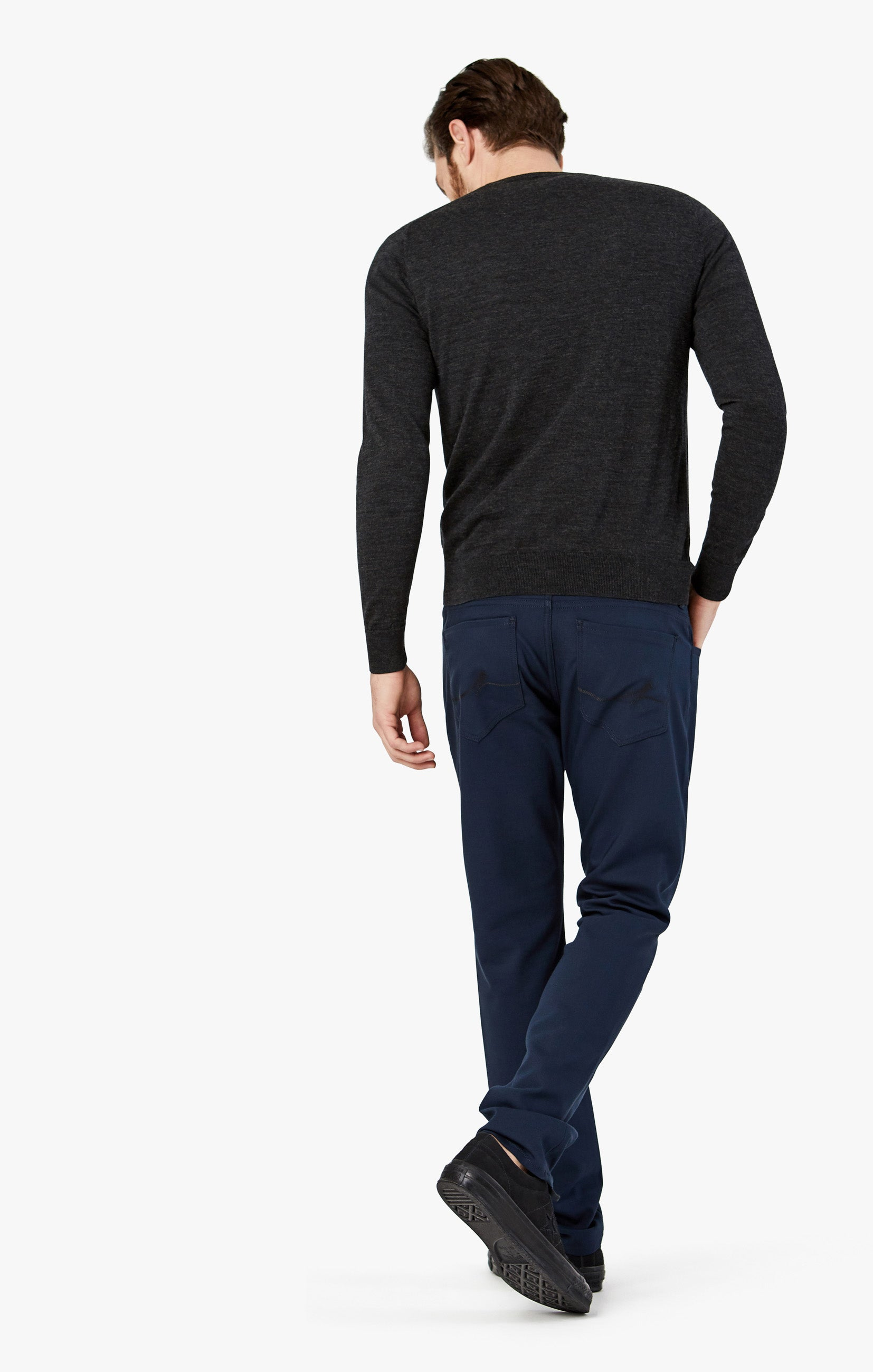 Courage Straight Leg Pants in Navy Commuter Image 9