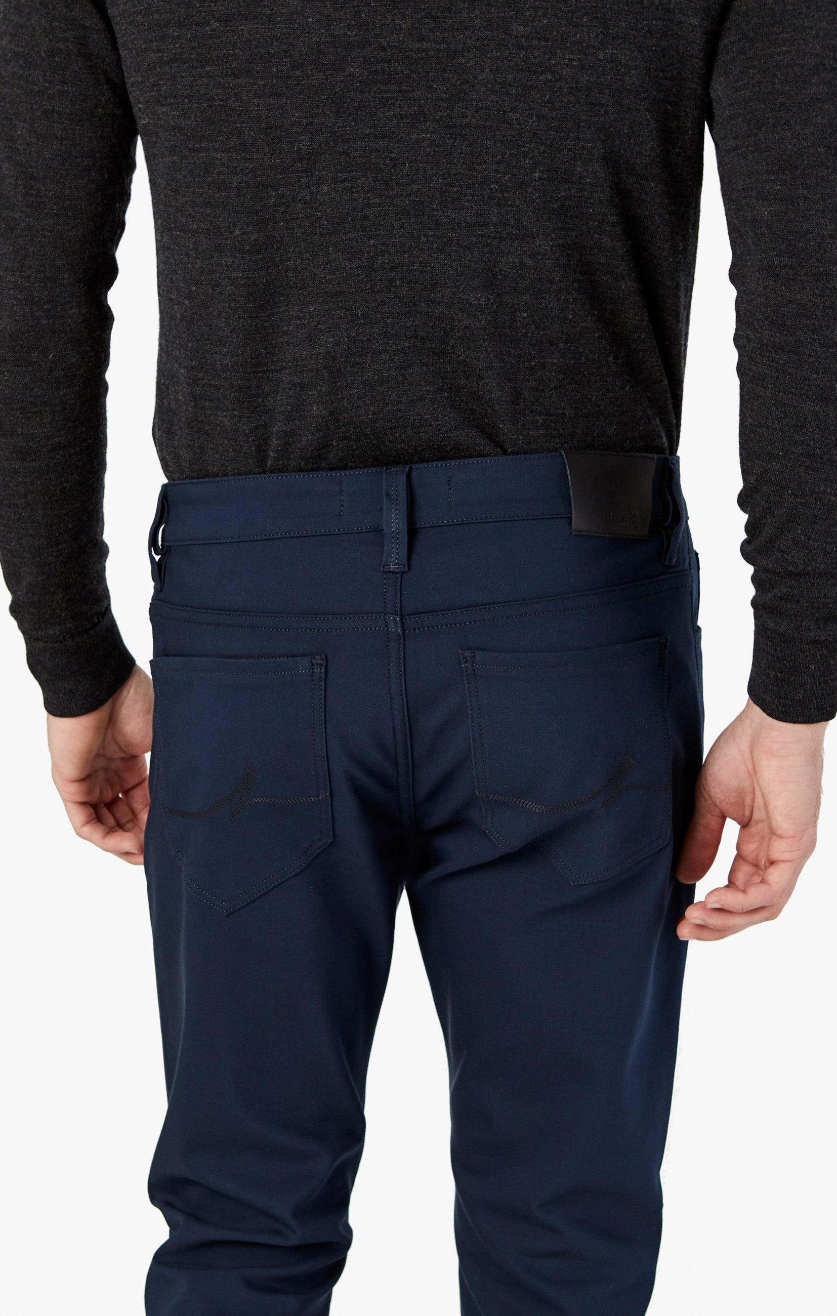 Courage Straight Leg Pants in Navy Commuter Image 6