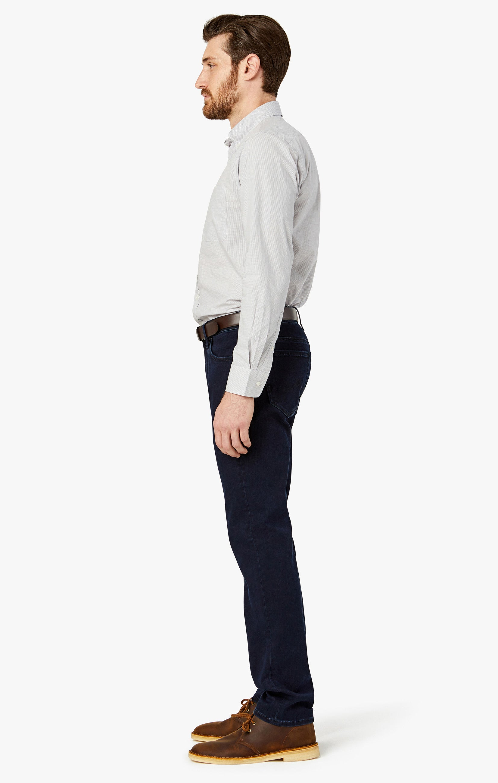 Courage Straight Leg Jeans In Ink Brushed Image 10