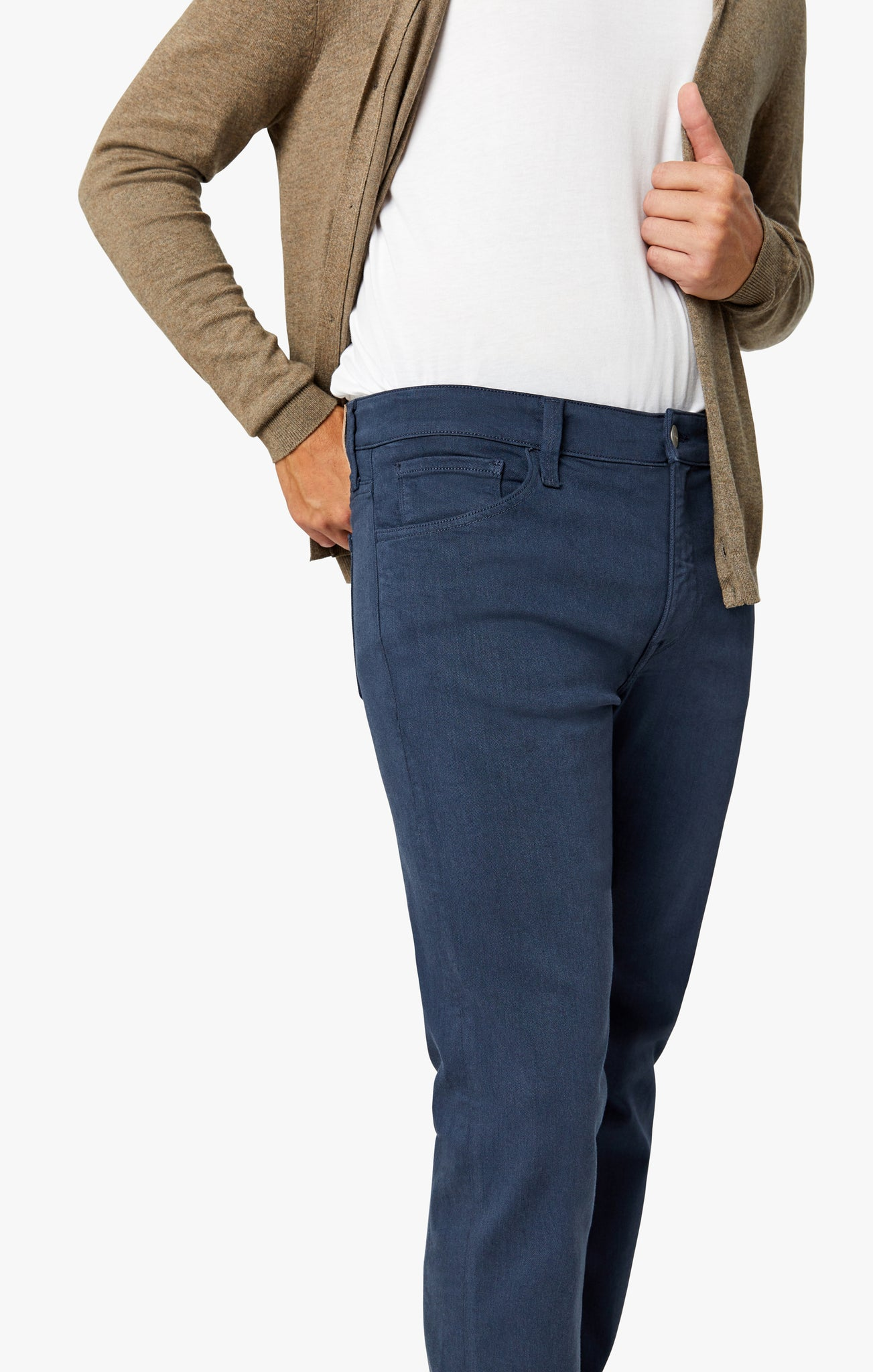 Courage Straight Leg Pants in Dusty Navy Comfort
