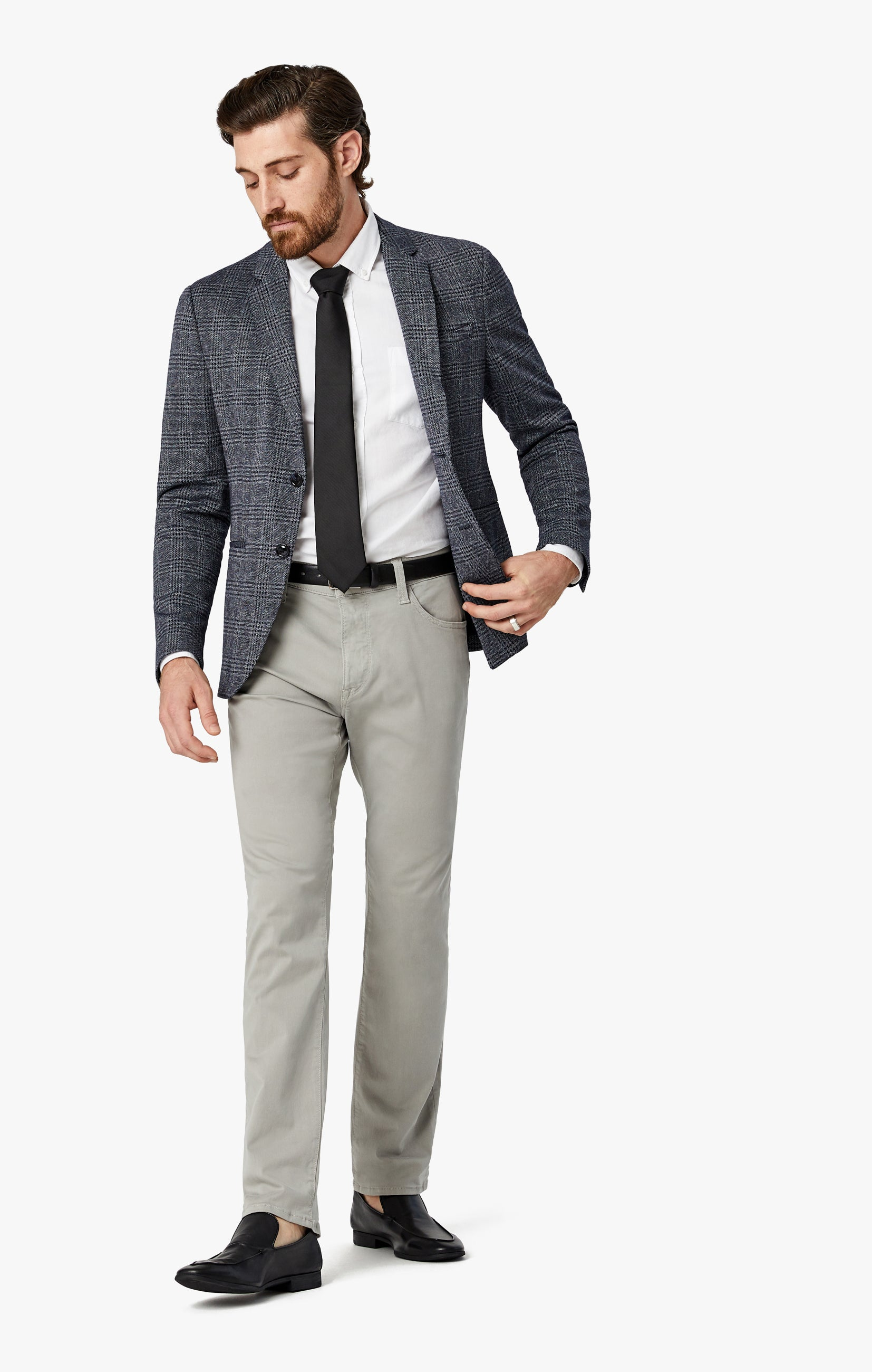 Courage Straight Leg Pants in Grey Twill Image 6