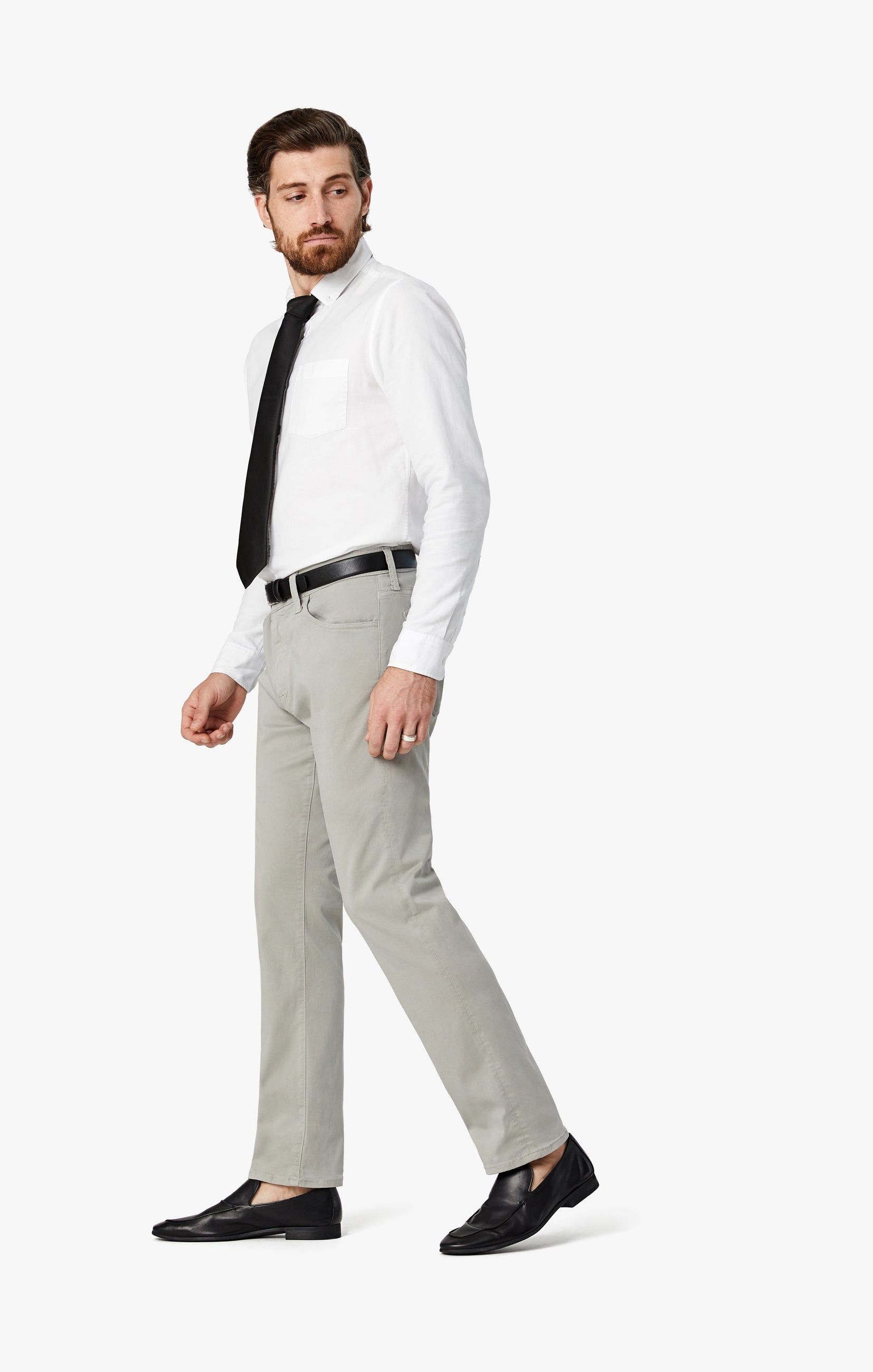 Courage Straight Leg Pants in Grey Twill Image 4
