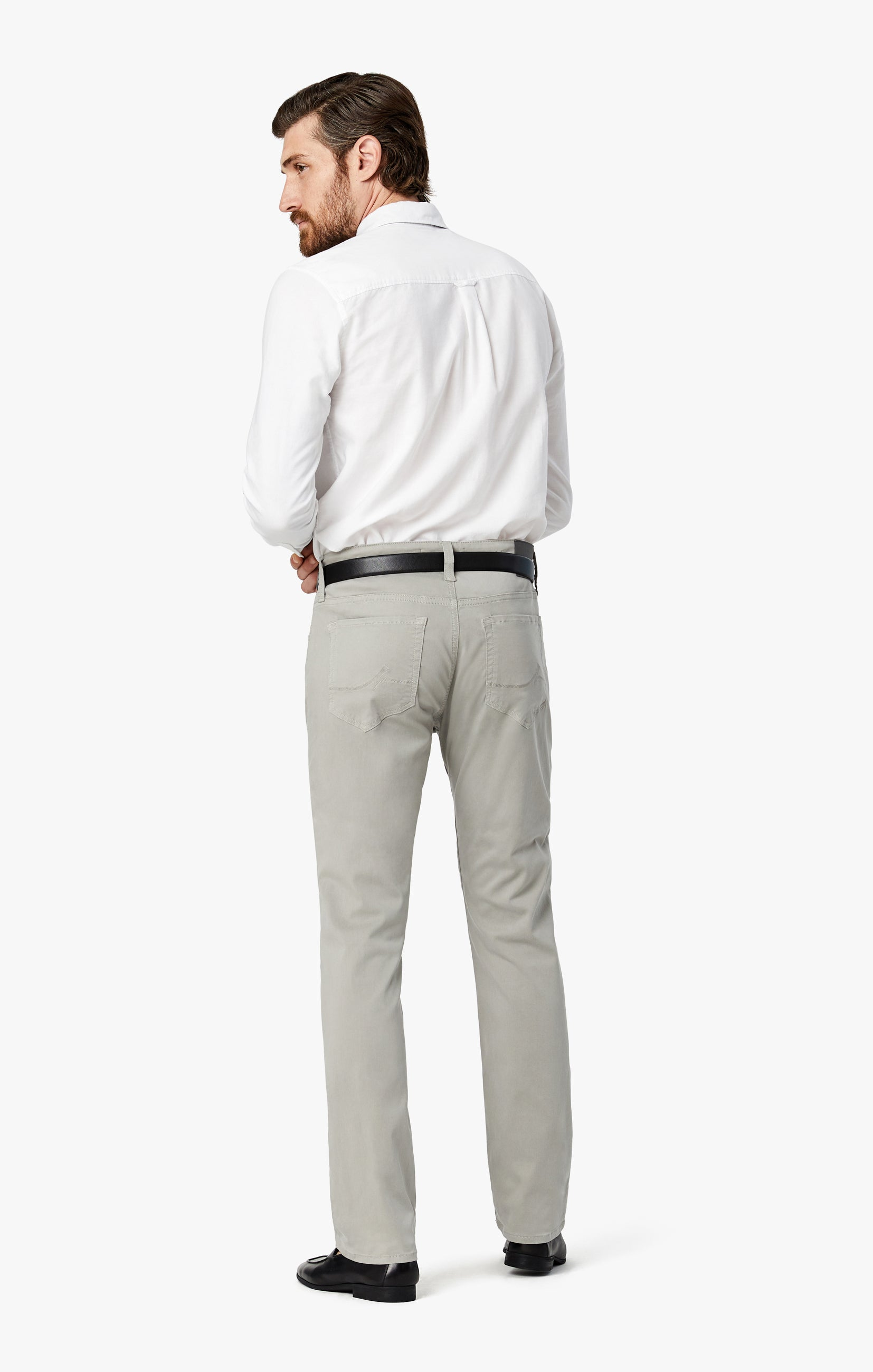 Courage Straight Leg Pants in Grey Twill Image 8