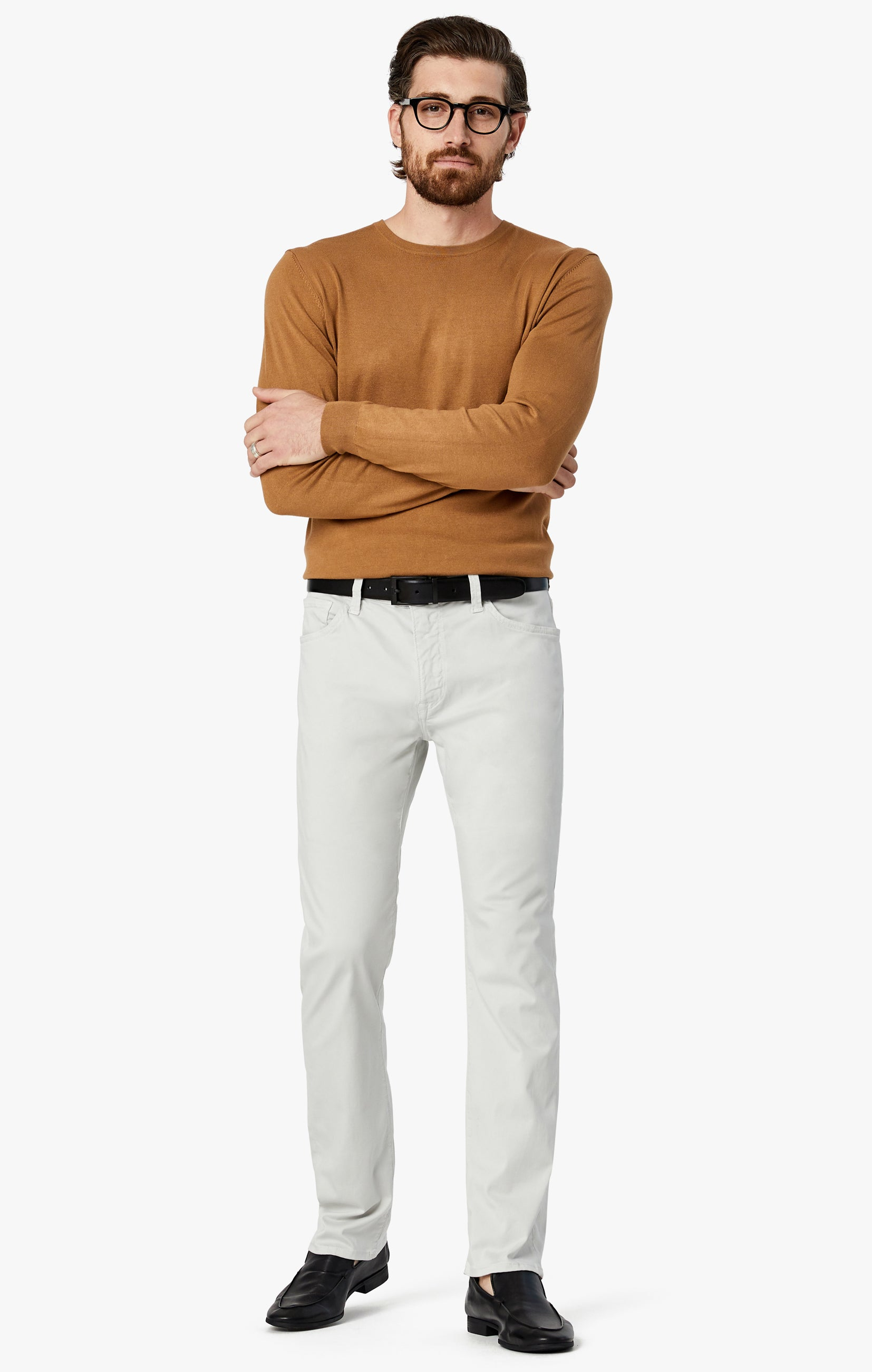 Courage Straight Leg Jeans in Bone Twill Image 5