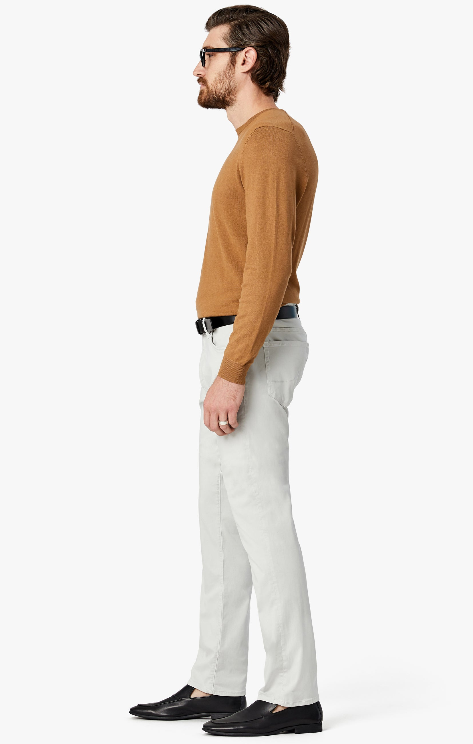 Courage Straight Leg Jeans in Bone Twill Image 4