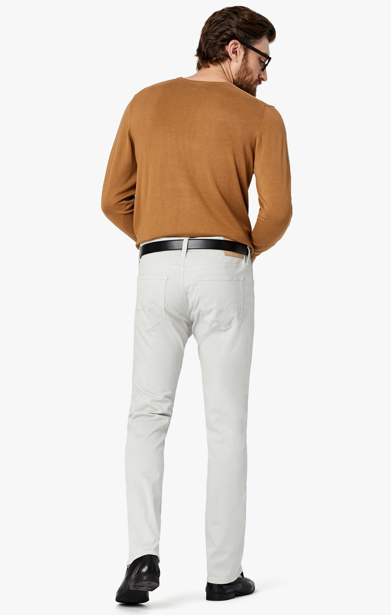 Courage Straight Leg Jeans in Bone Twill Image 3