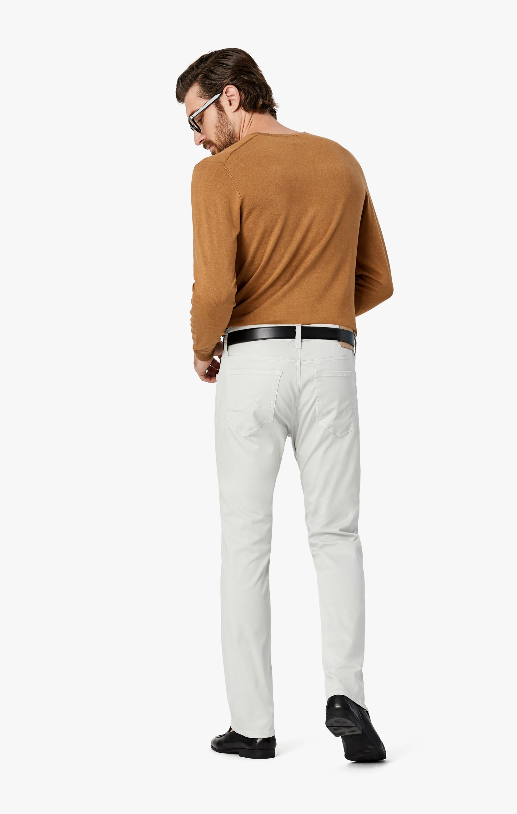 Courage Straight Leg Jeans in Bone Twill Image 9