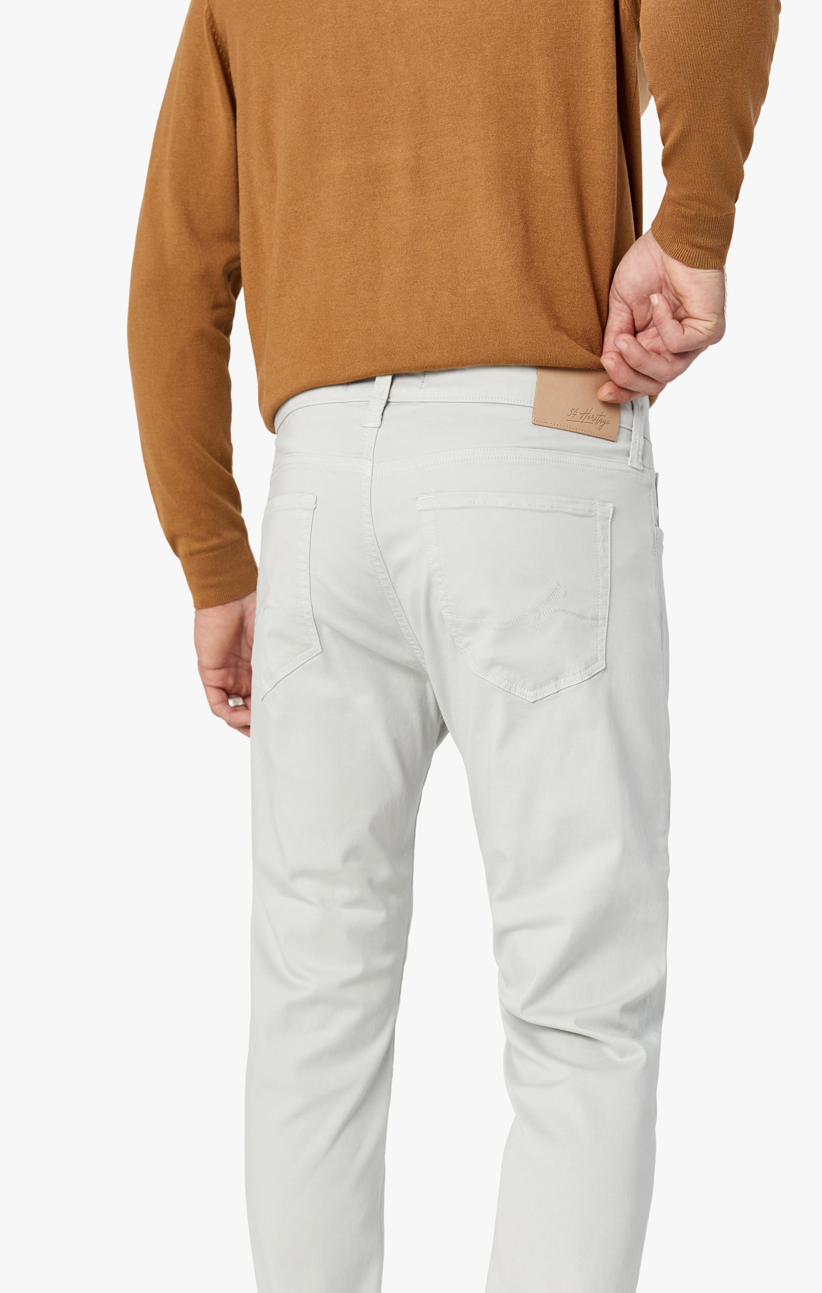 Courage Straight Leg Jeans in Bone Twill Image 8
