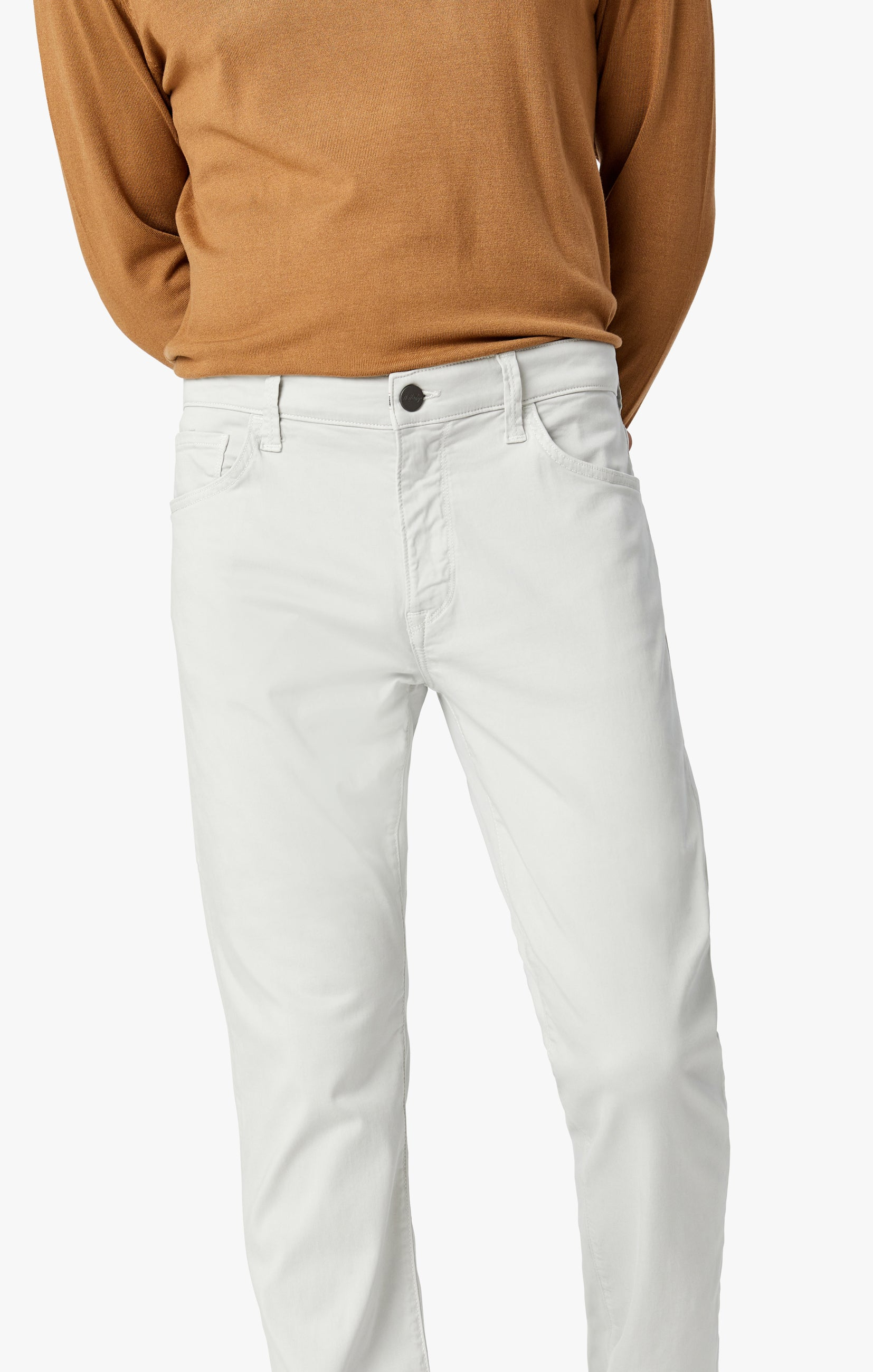 Courage Straight Leg Jeans in Bone Twill Image 7