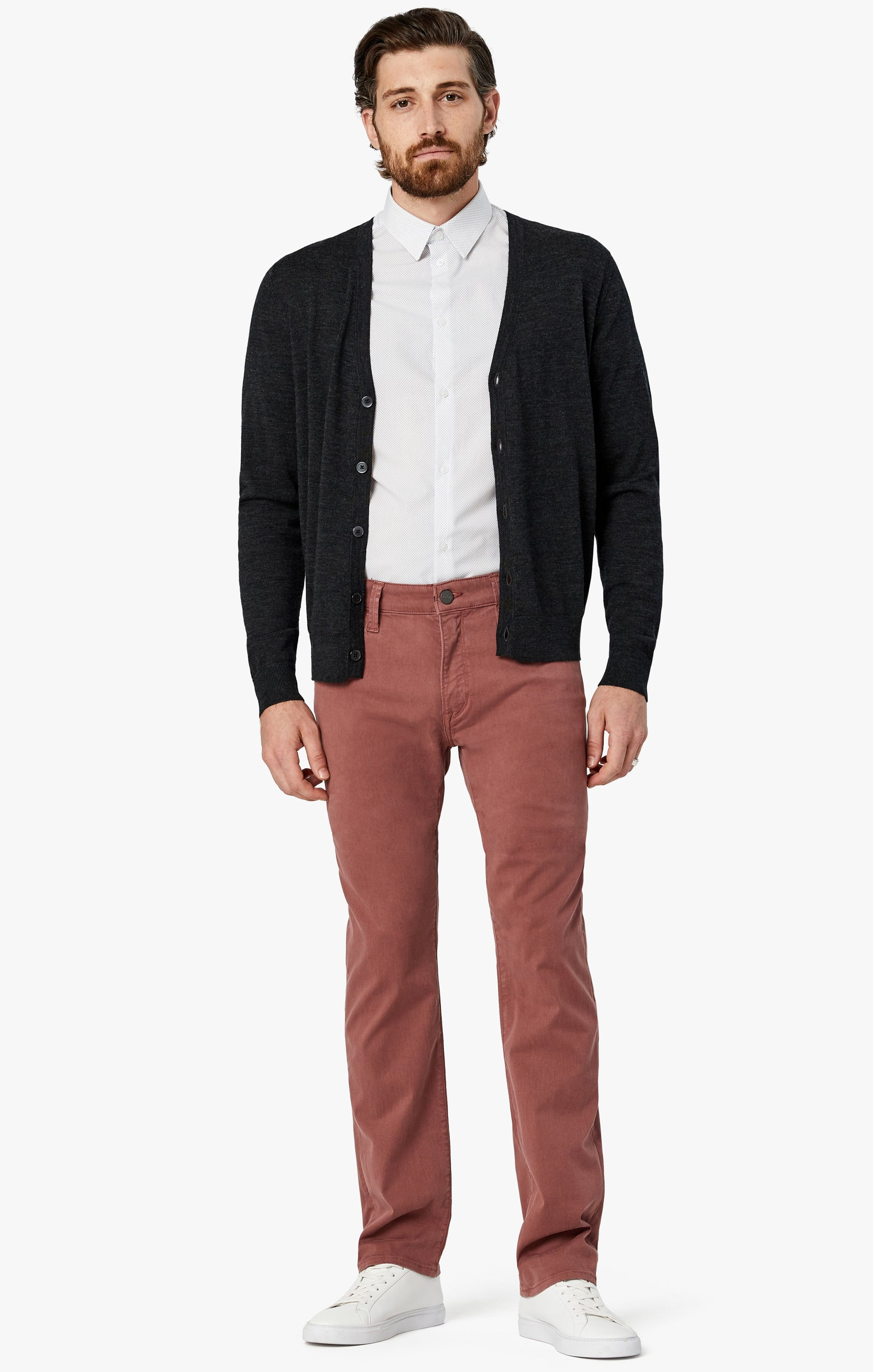 Courage Straight Leg Pants in Berry Twill Image 1