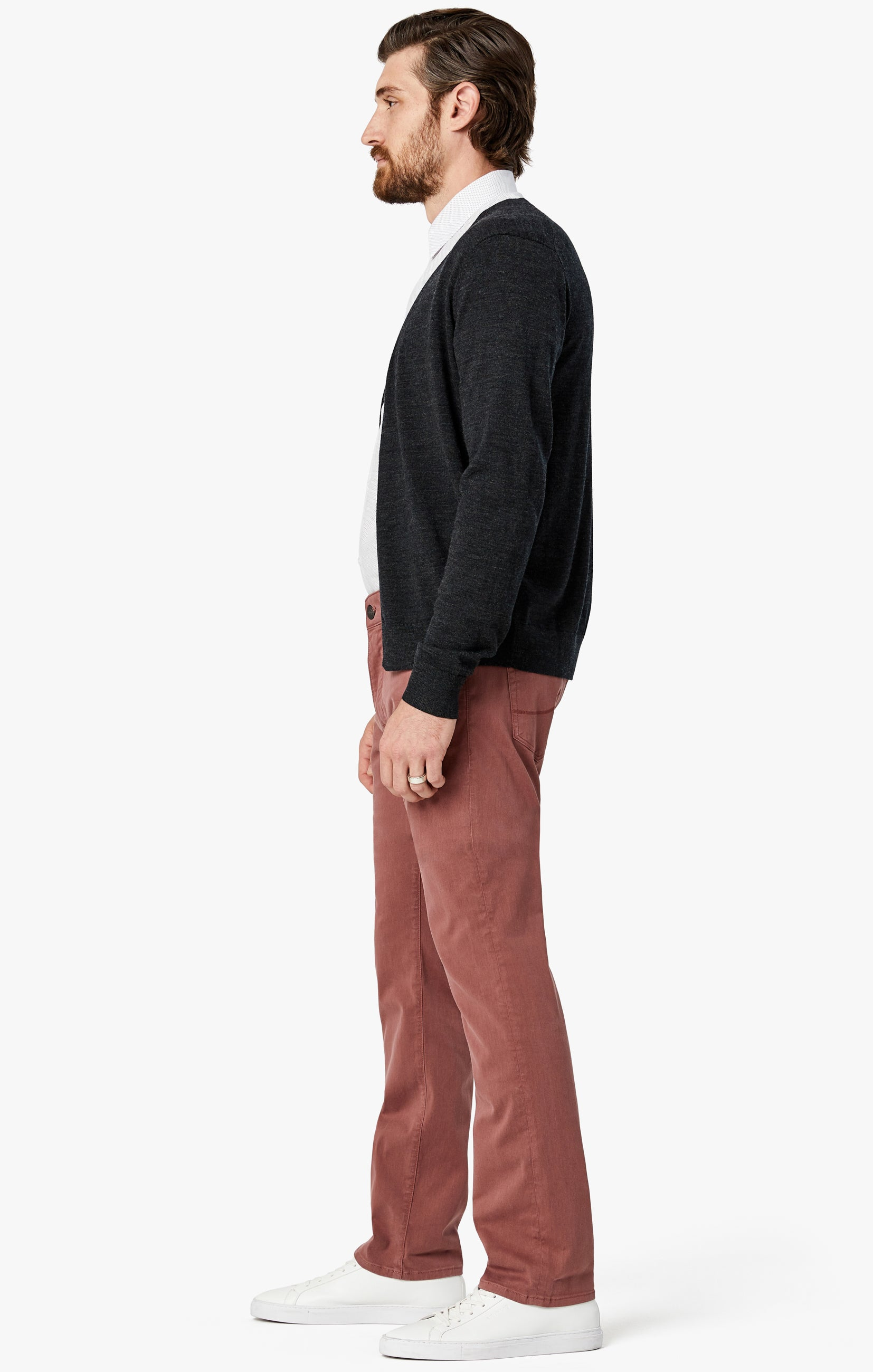 Courage Straight Leg Pants in Berry Twill Image 5