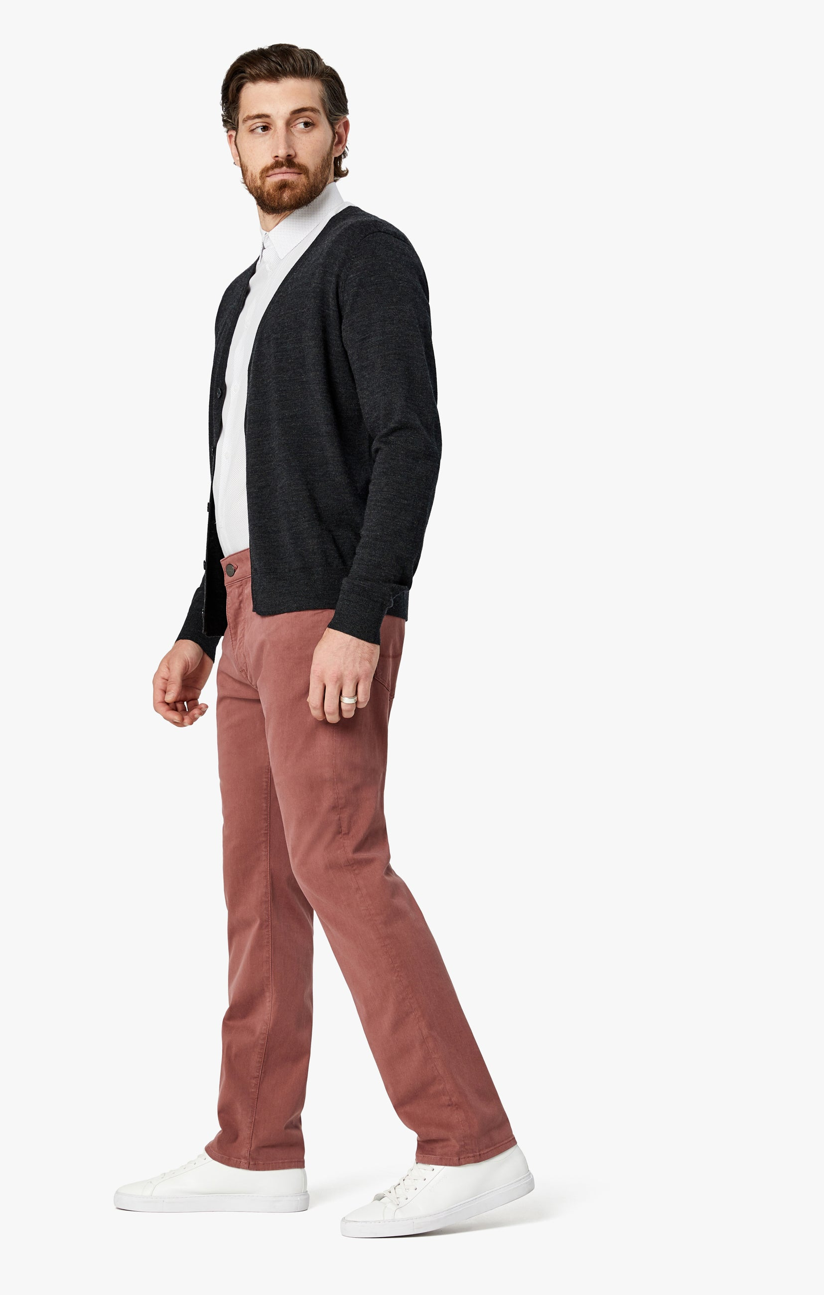 Courage Straight Leg Pants in Berry Twill Image 2