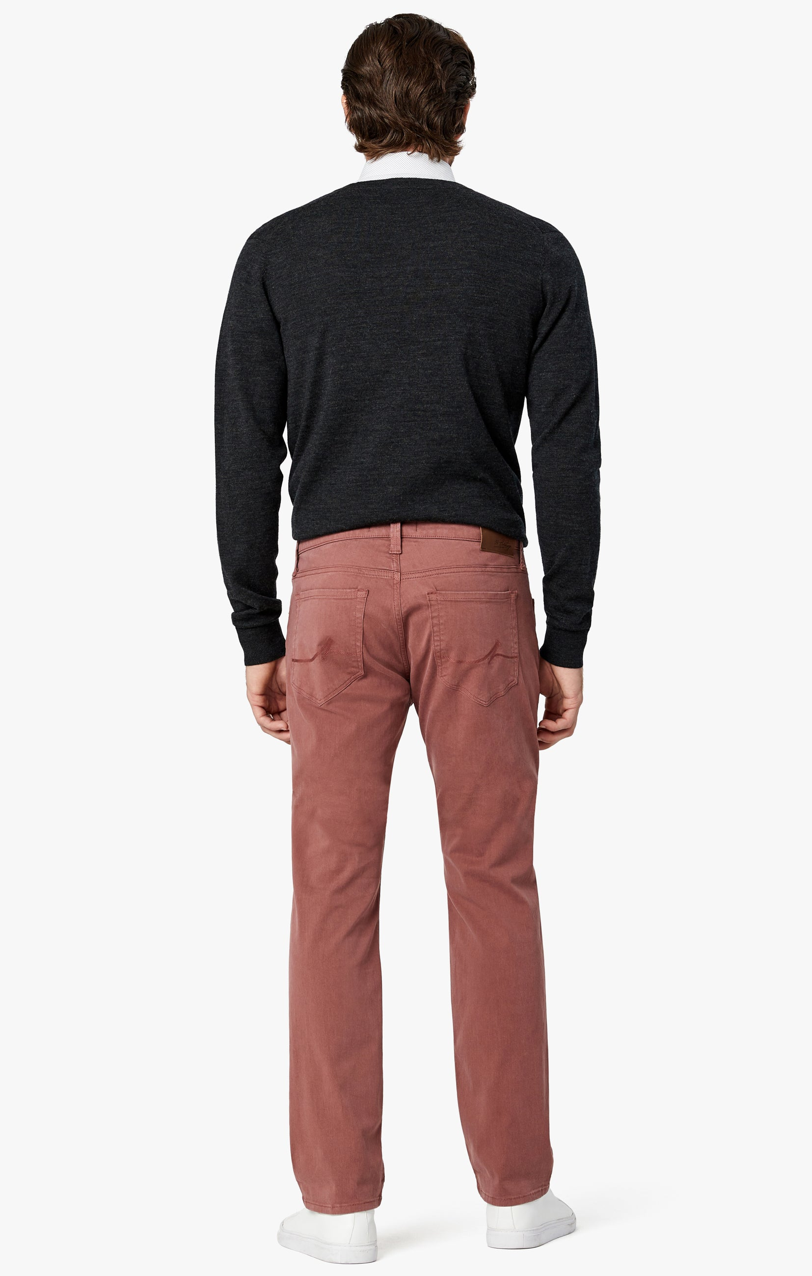 Courage Straight Leg Pants in Berry Twill Image 4
