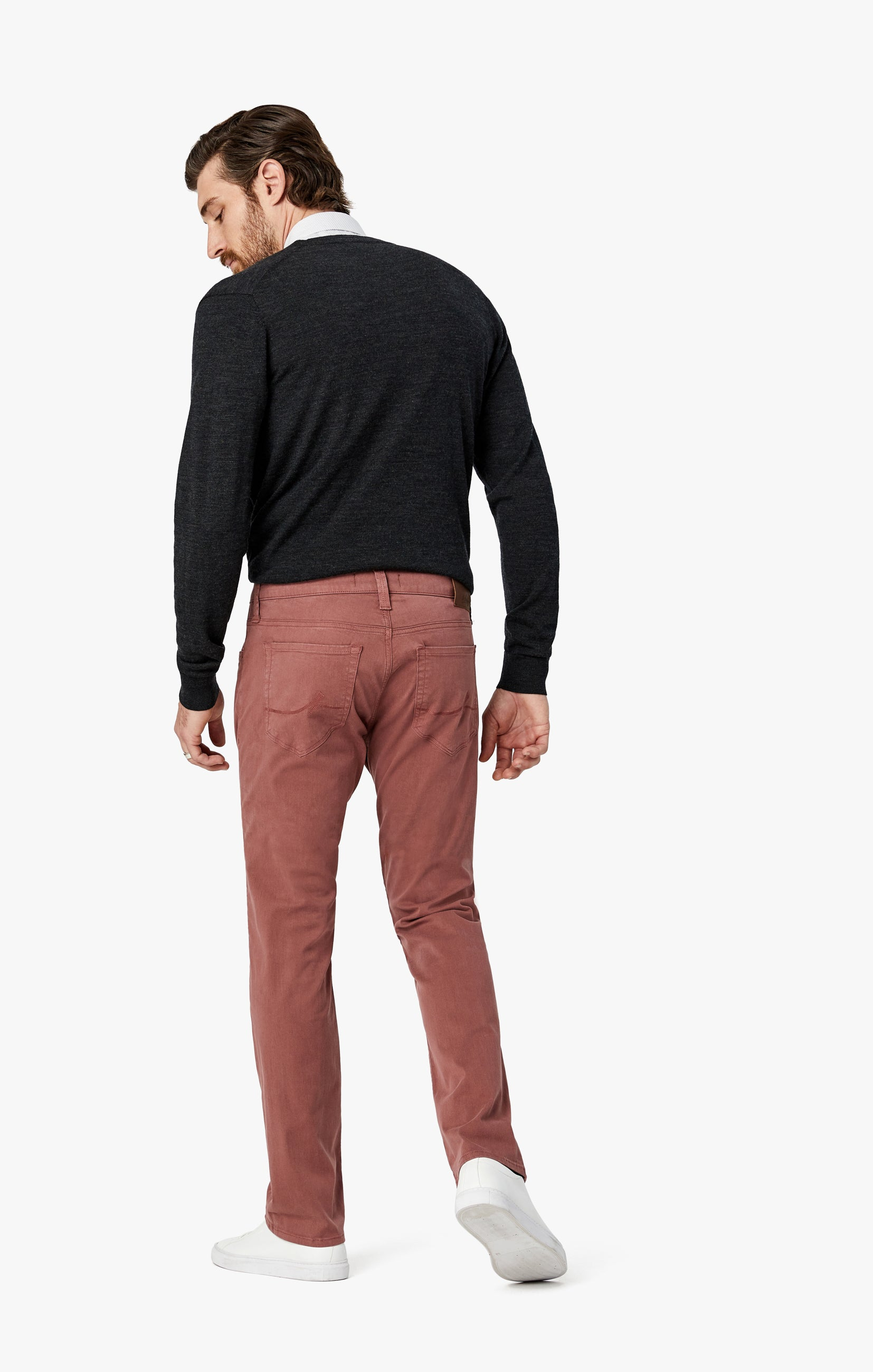 Courage Straight Leg Pants in Berry Twill Image 9