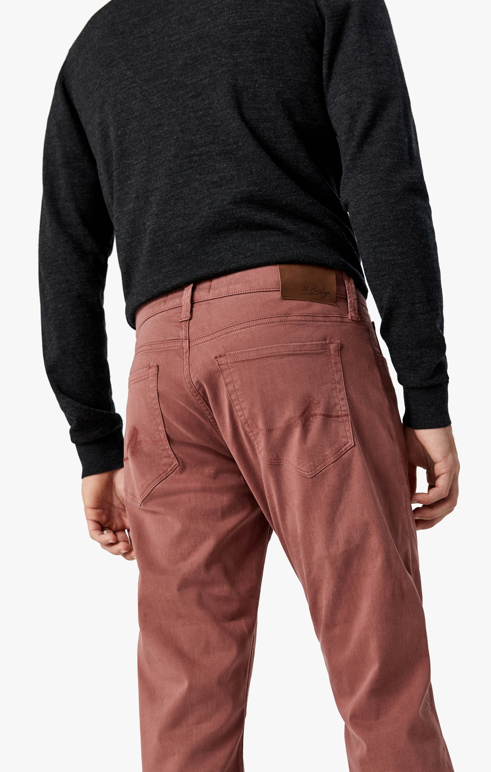 Courage Straight Leg Pants in Berry Twill Image 7