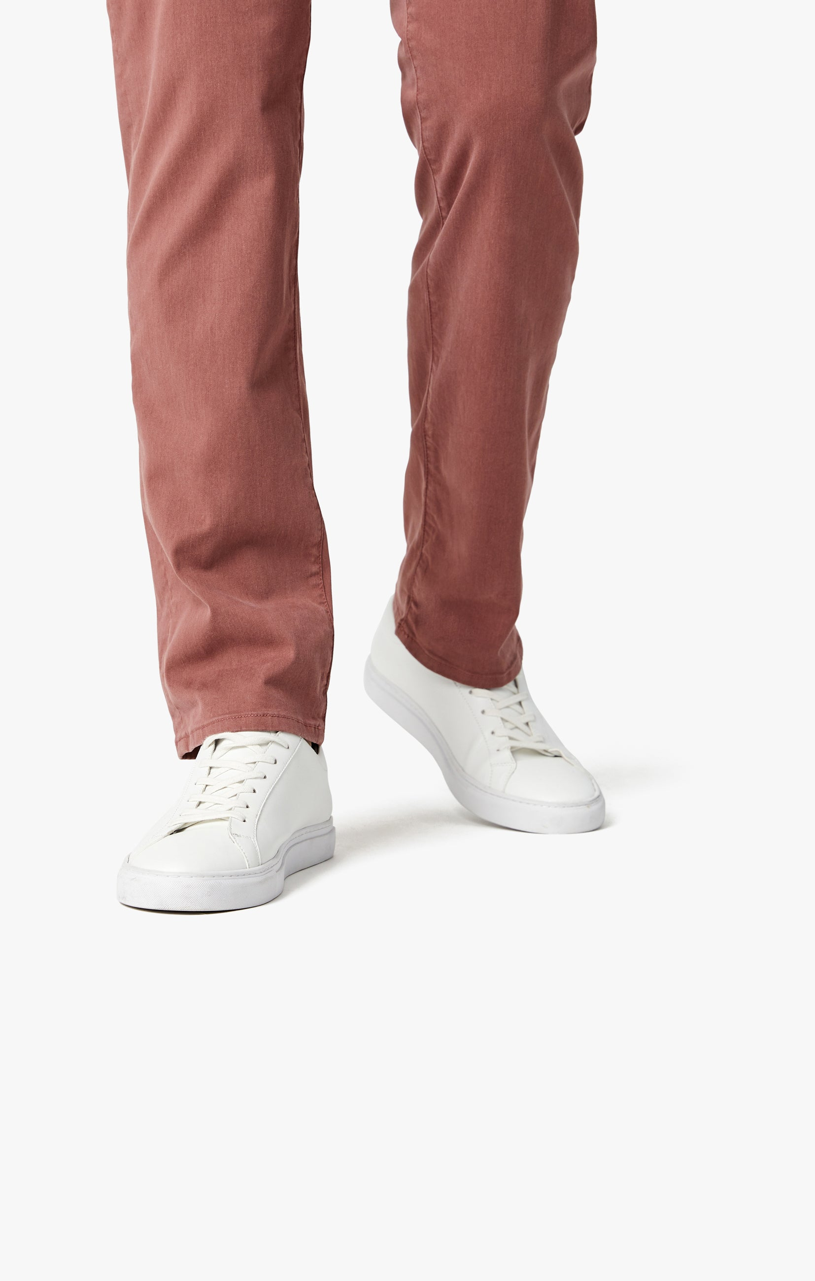 Courage Straight Leg Pants in Berry Twill Image 8