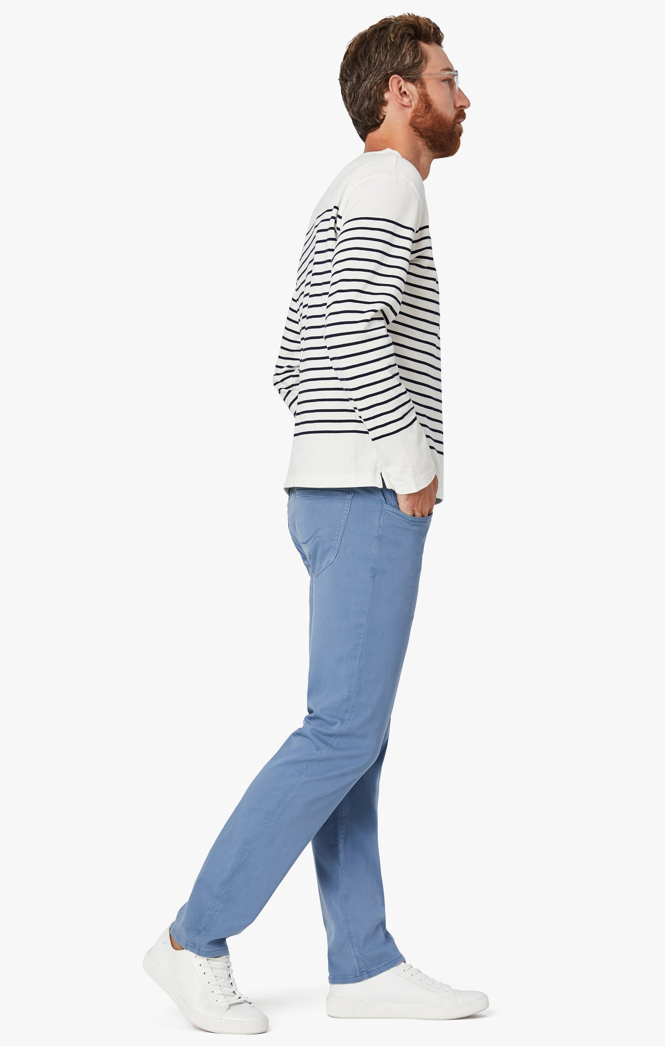 Courage Straight Leg Pants in Blue Twill