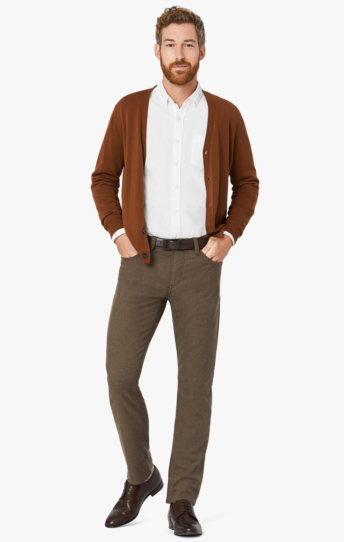 Courage Straight Leg Pants In Mocha Supreme