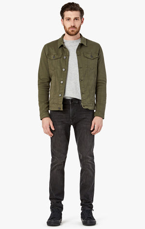Travis Jacket in Olive Twill