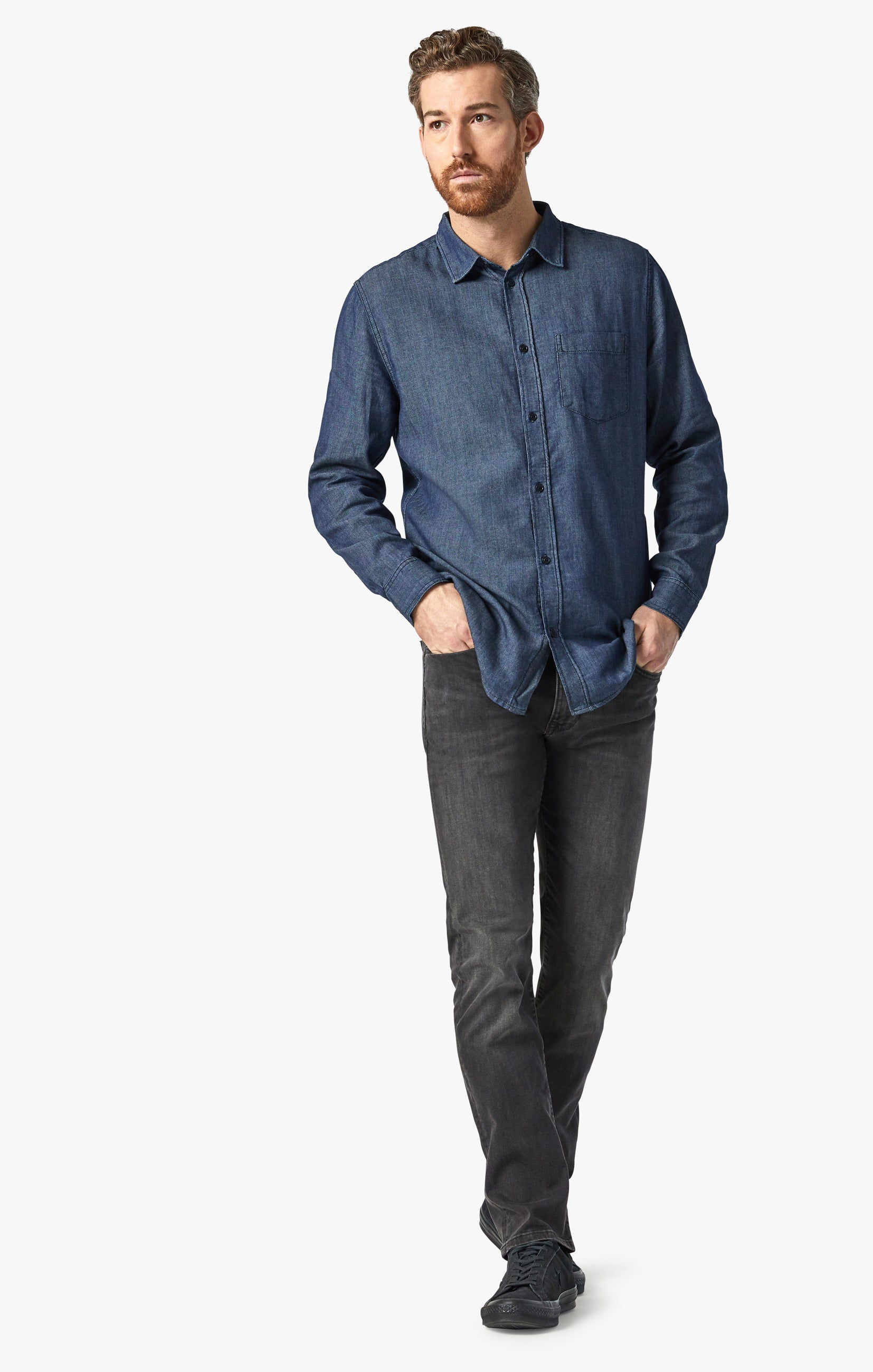 Chris Denim Shirt In Rinse Image 2