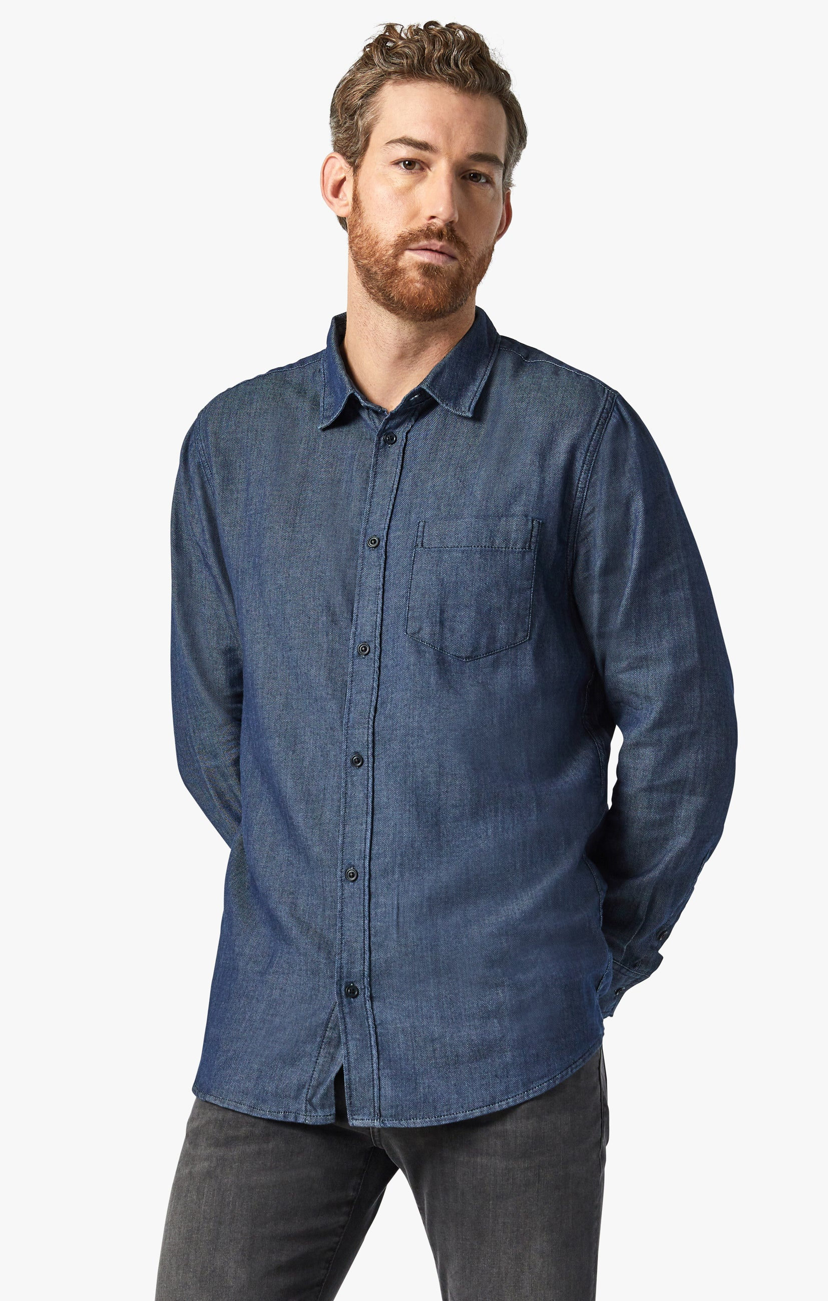 Chris Denim Shirt In Rinse Image 3