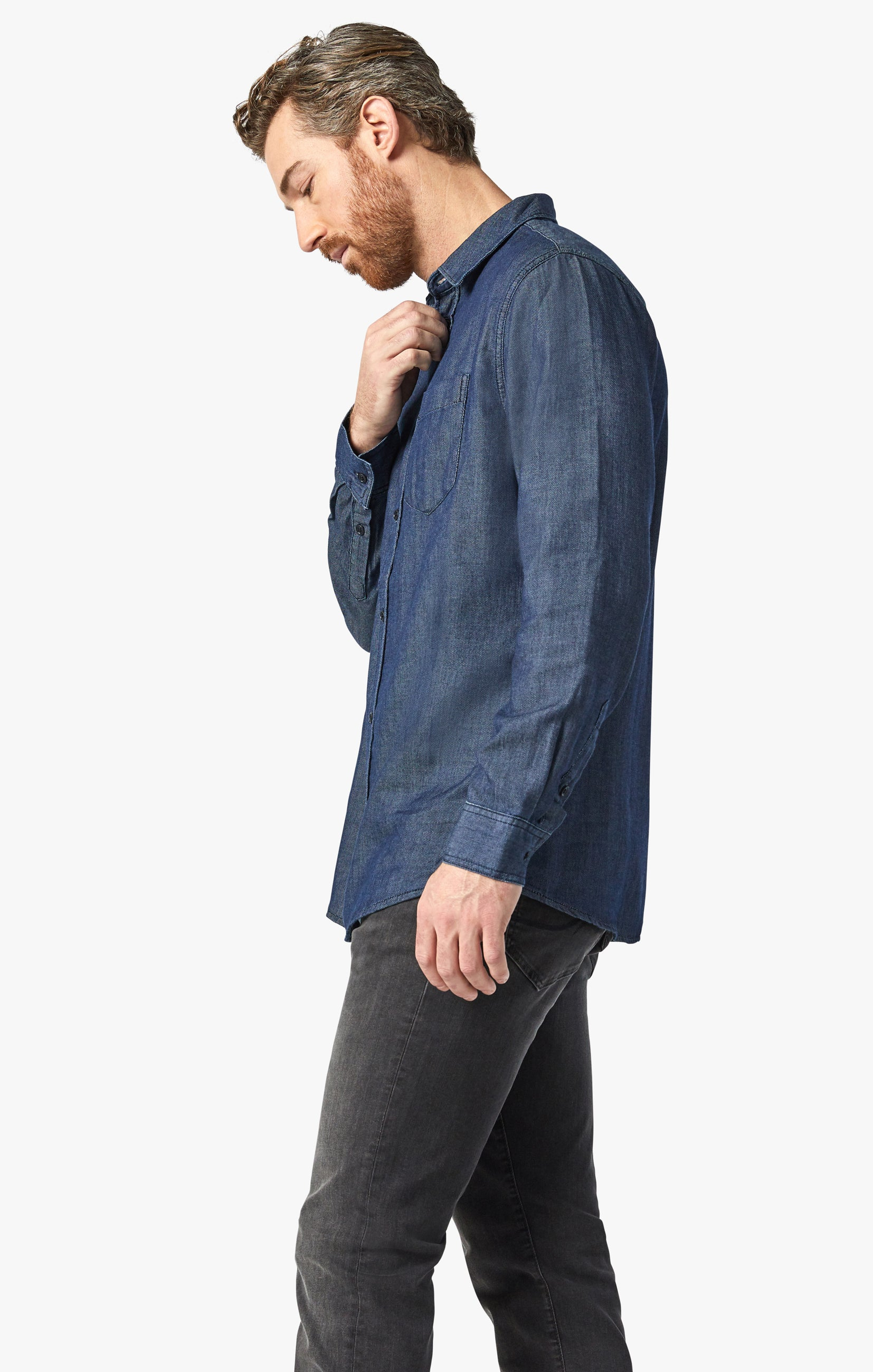 Chris Denim Shirt In Rinse Image 4