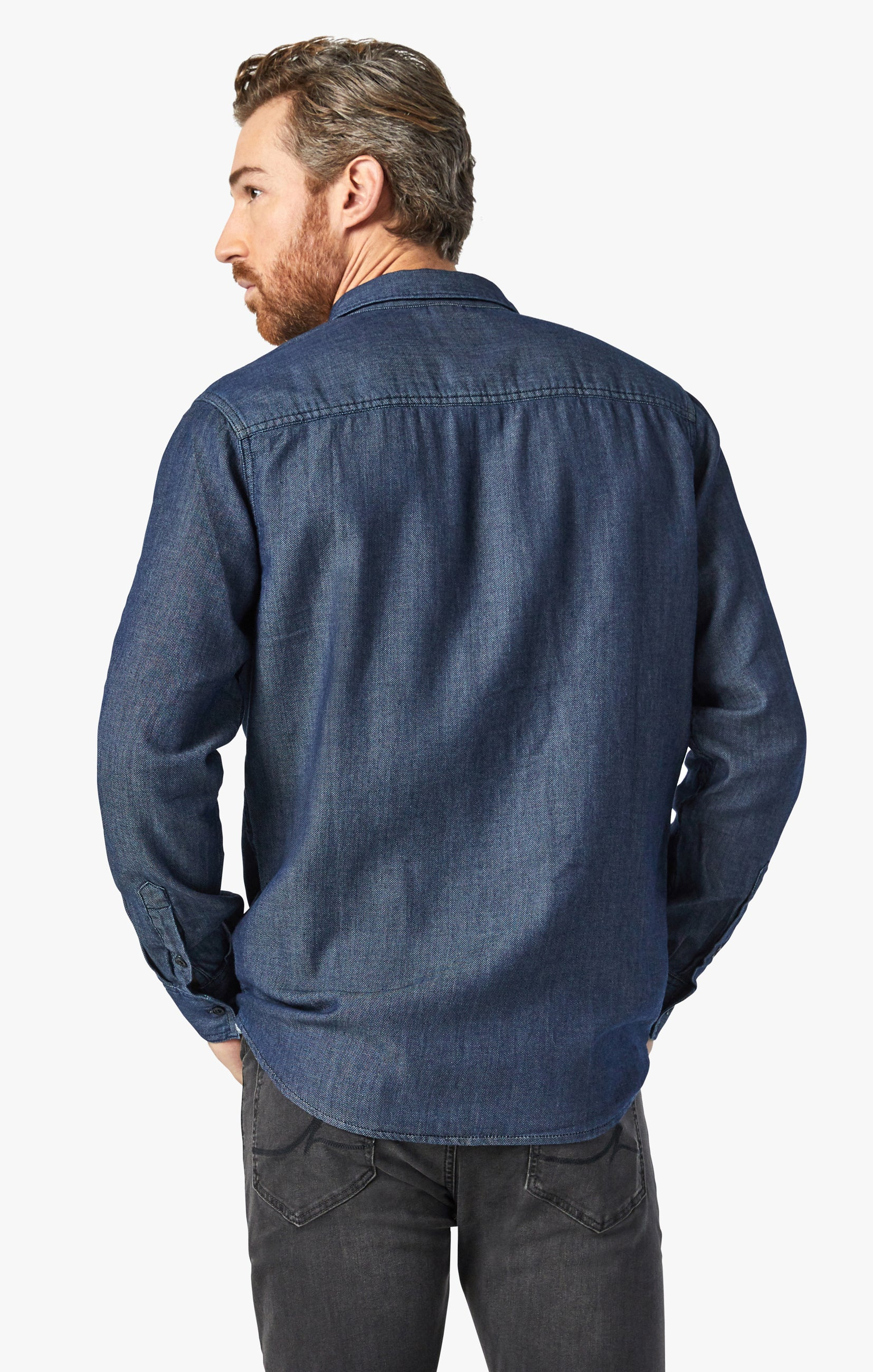 Chris Denim Shirt In Rinse Image 6
