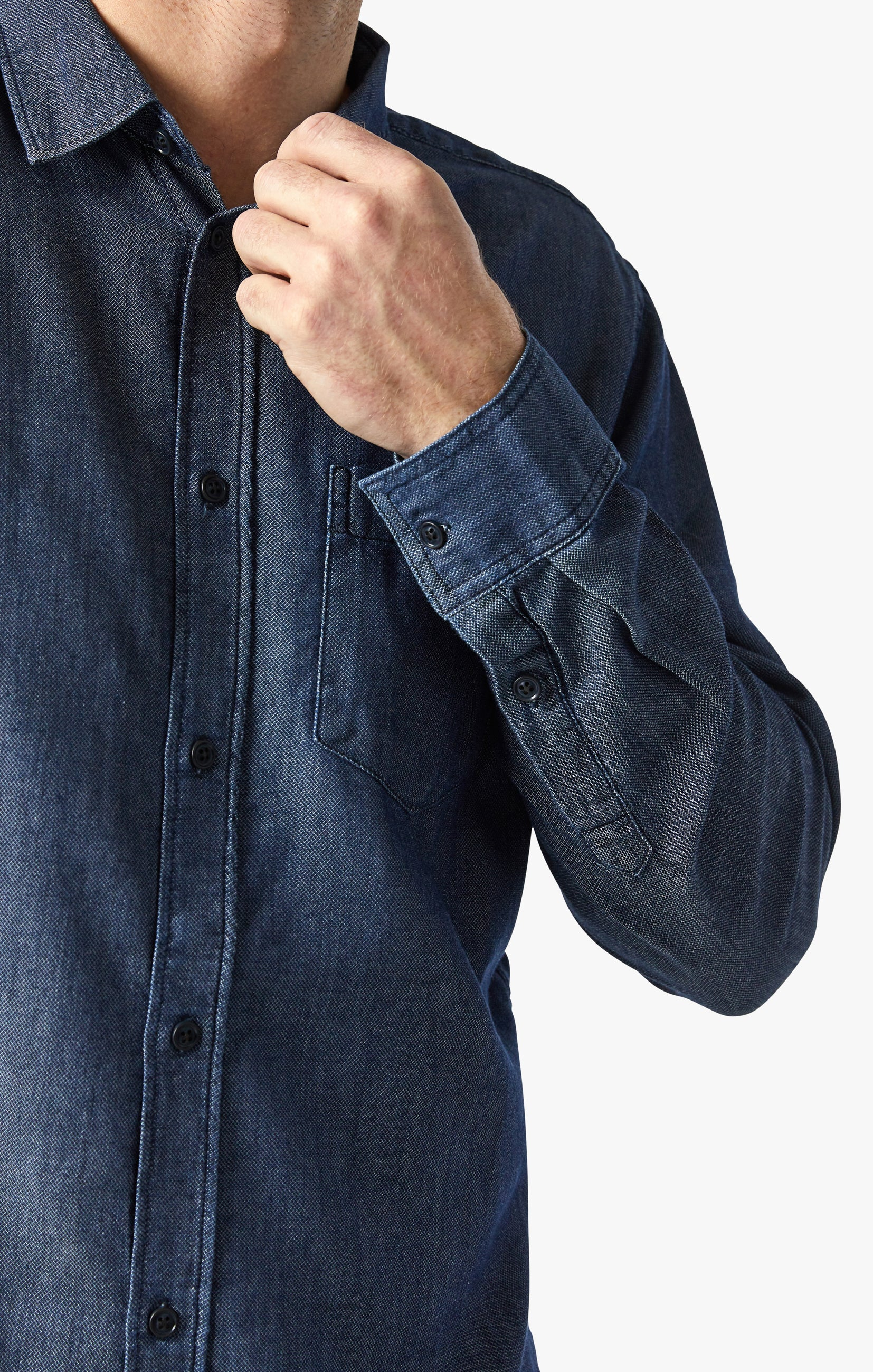 Chris Denim Shirt In Rinse Image 1
