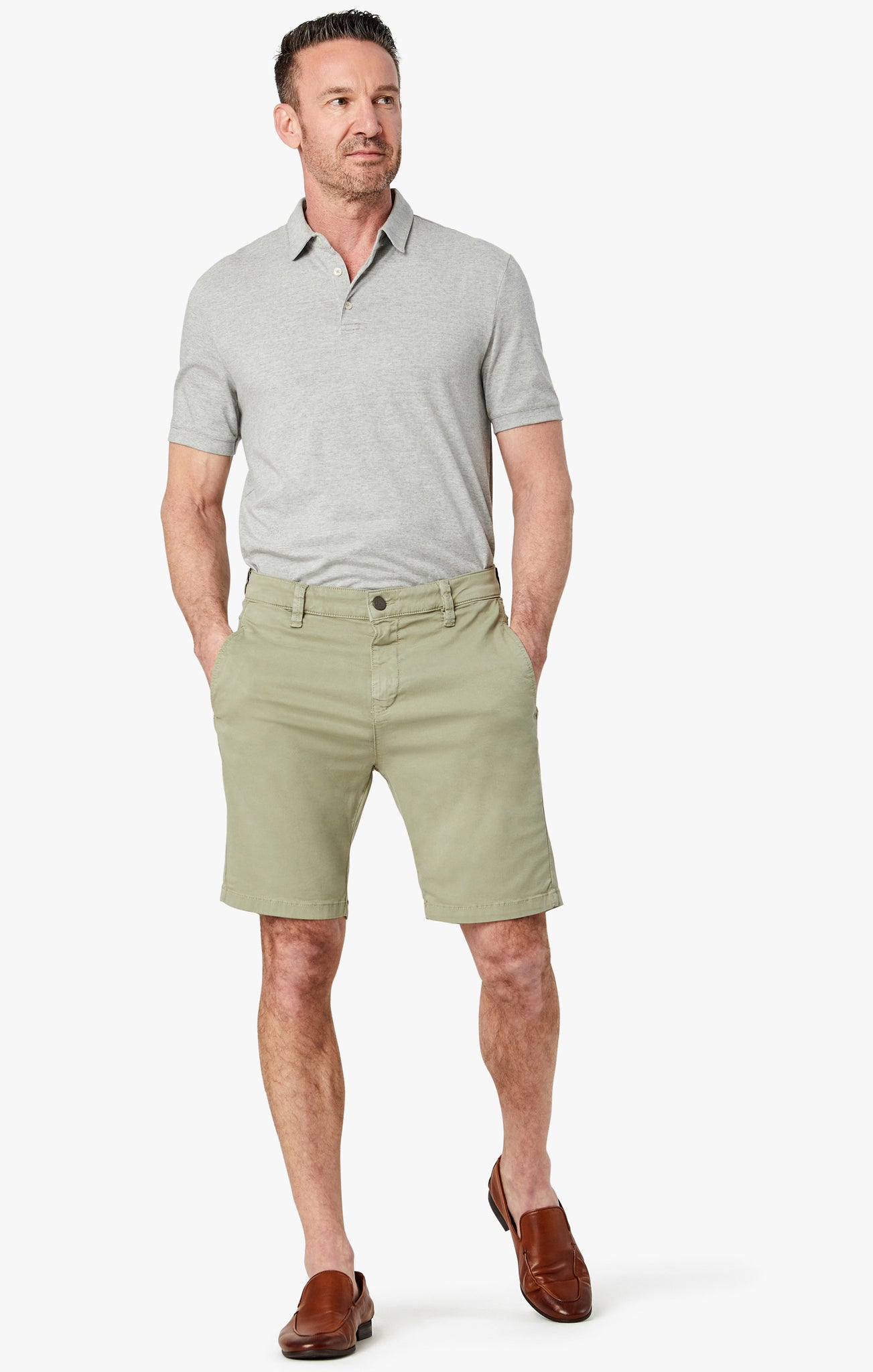 Nevada Shorts in Sage Soft Touch