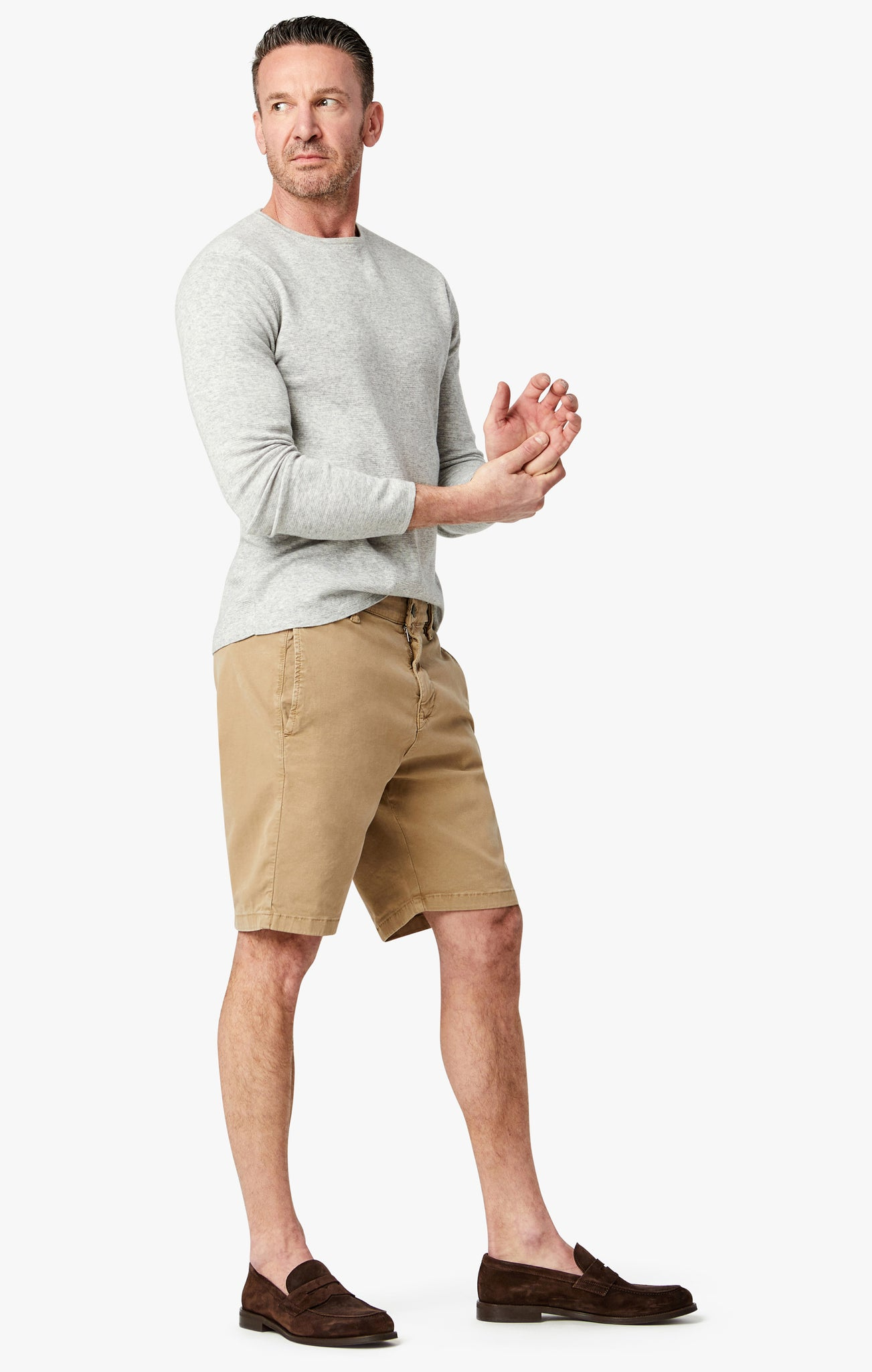 Nevada Shorts in Khaki Soft Touch