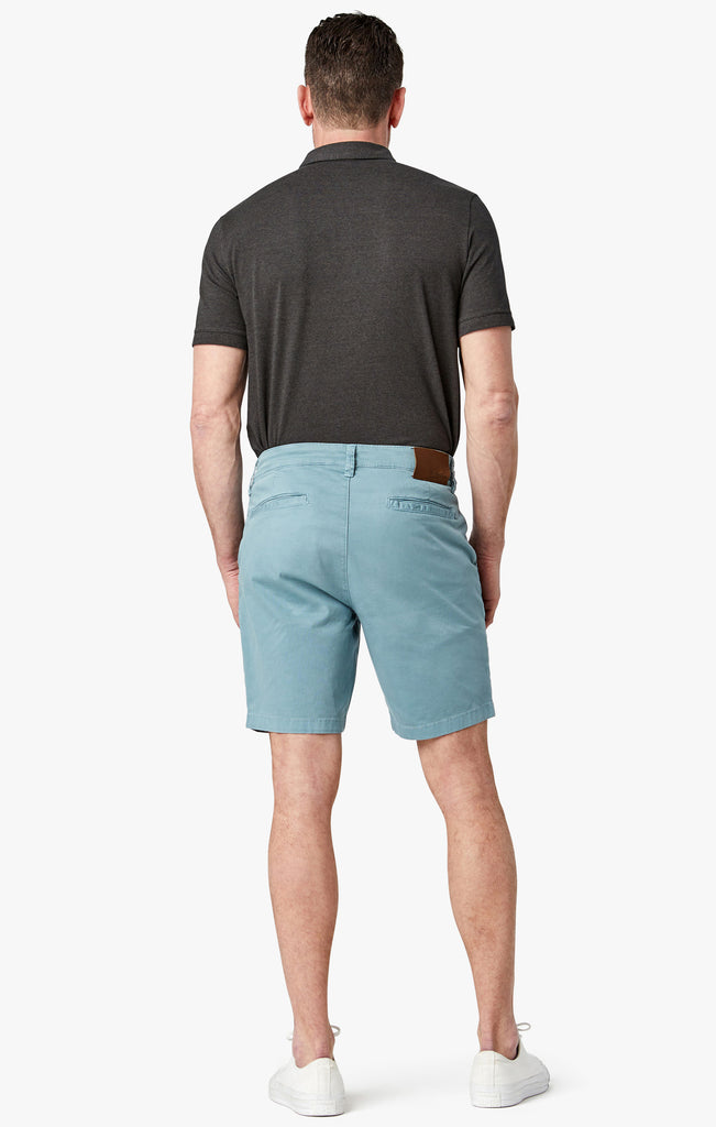 Arizona Slim Shorts in Aqua Washed Twill