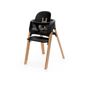 Silla Steps Negro Natural + Baby Set (3555672195144)