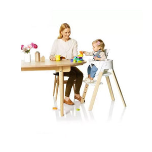 Silla Steps Blanca Natural + Baby Set (3555674423368)