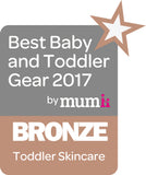 Bronze award in best baby and toddler gear 2017 - skincare