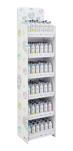 Retail display for Little Organics Skincare Range