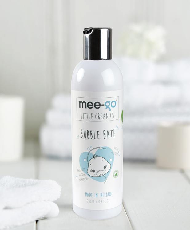 Natural, tear free bubble bath for baby and toddler.