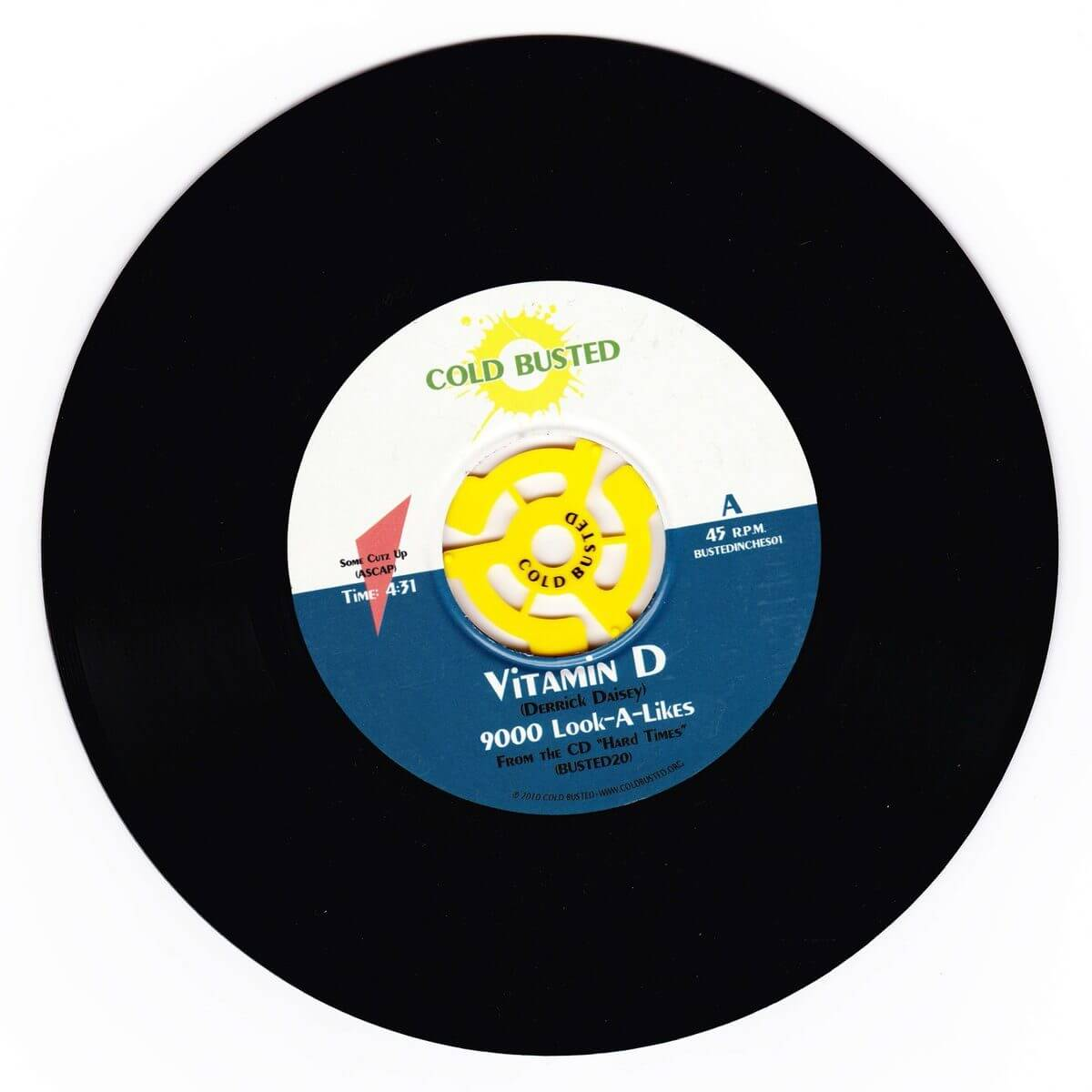 "Vitamin D - 9000 Look-A-Likes - Limited Edition 7"" Vinyl Cold Busted"