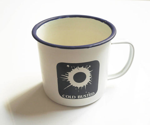 Cold Busted 16 oz Enamel Metal Mug -  Cold Busted