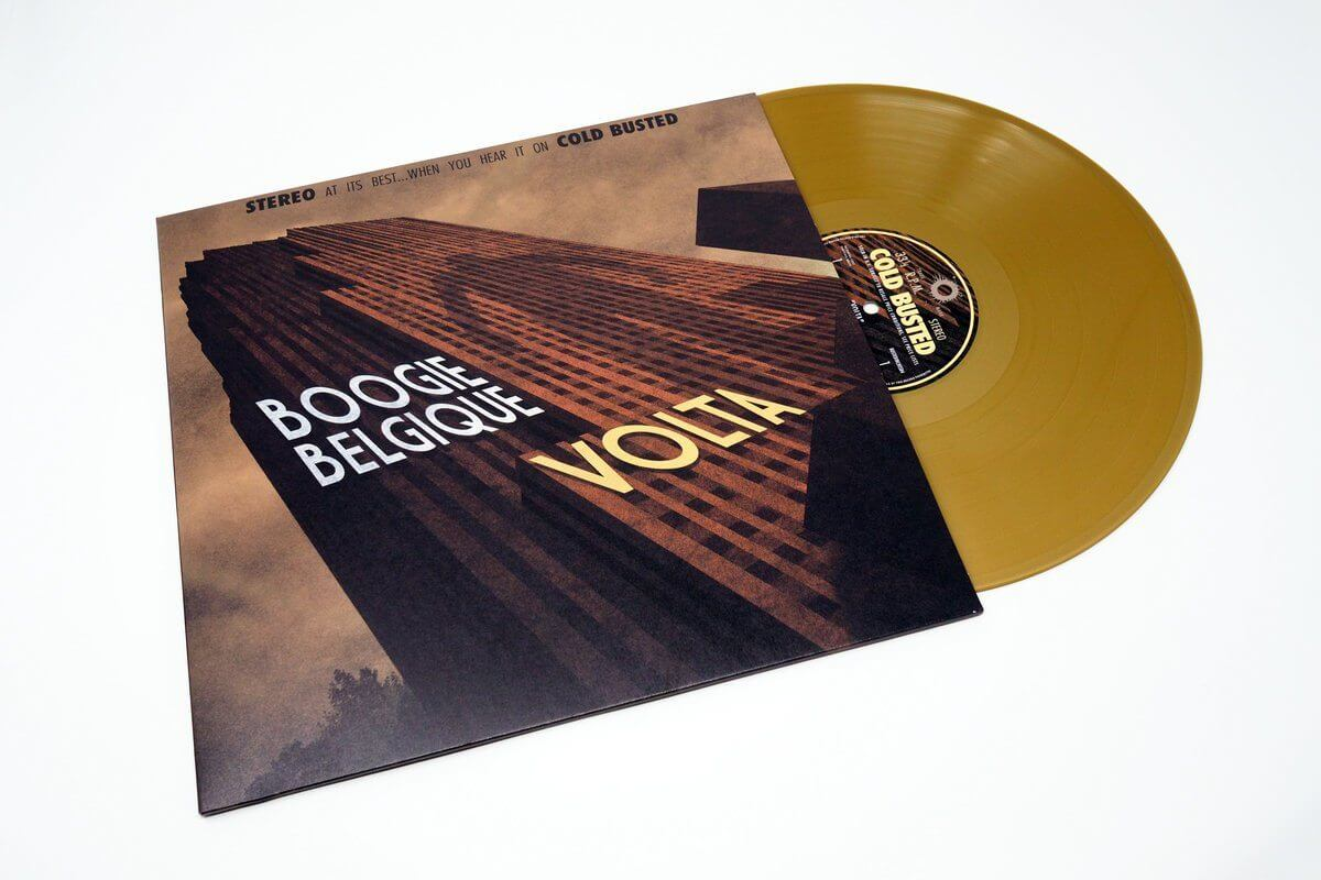 "Boogie Belgique - Volta - Limited Edition Gold Colored 12"" Vinyl Cold Busted"