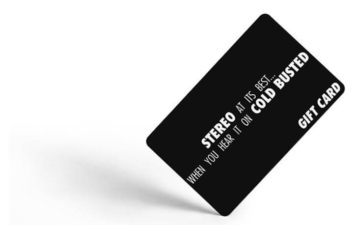The Cold Busted Gift Card - $10.00 USD Cold Busted