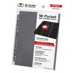 Ultimate Guard 18 Pocket Grey - Single Page