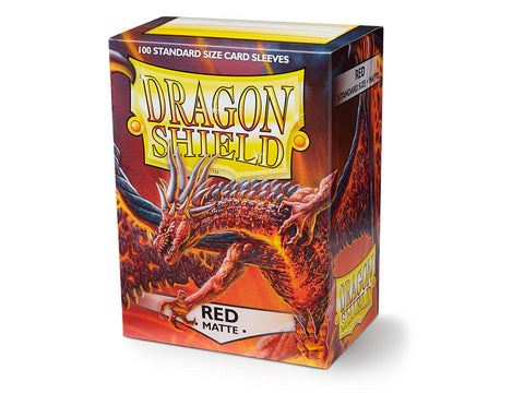 Dragon Shield Matte Red Sleeves (100)