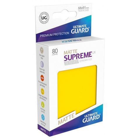 Ultimate Guard Supreme Sleeves Matte Yellow 80